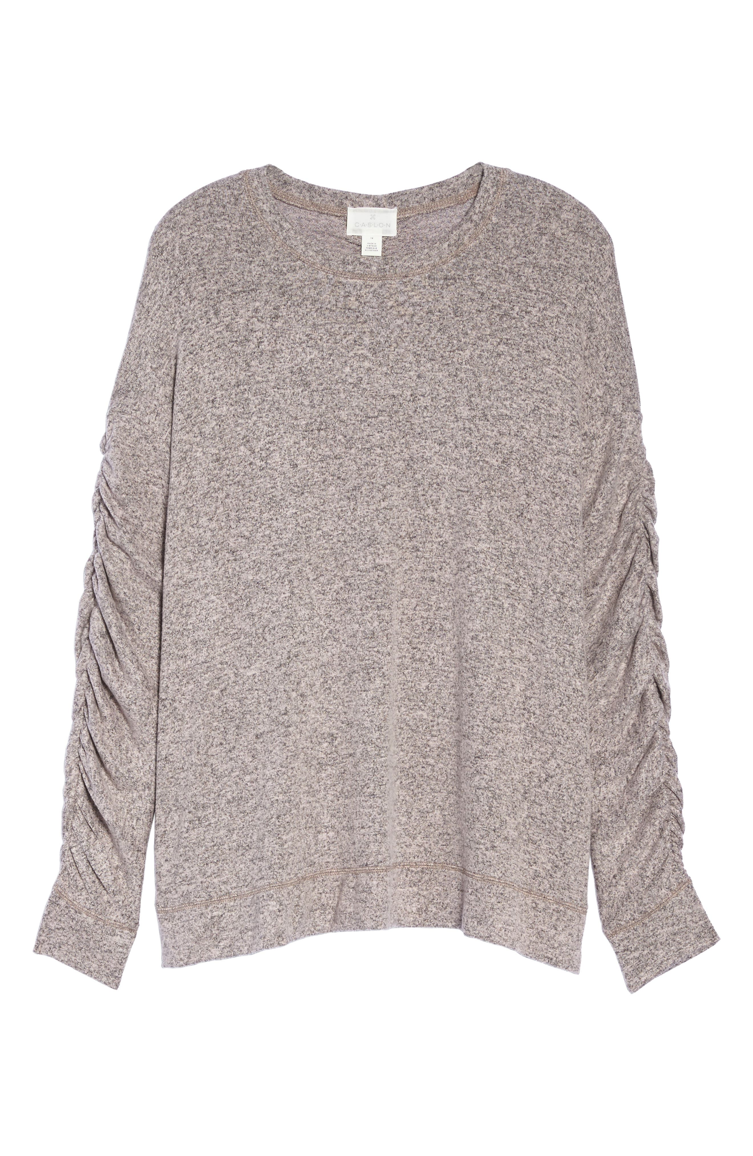 Ruched Sleeve Cozy Pullover,                             Alternate thumbnail 12, color,