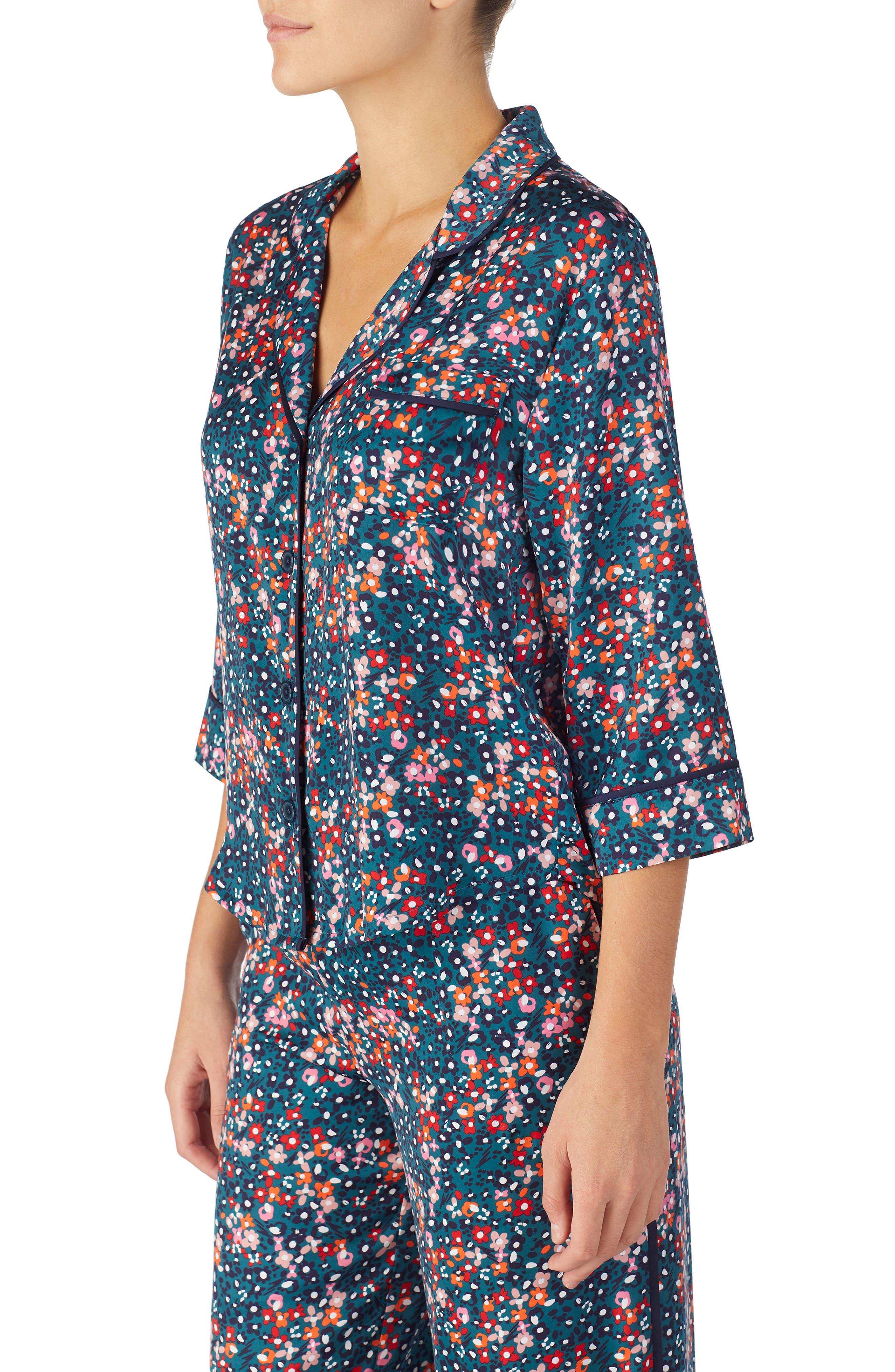 Pajama Top,                             Alternate thumbnail 3, color,                             DITSY FLORAL