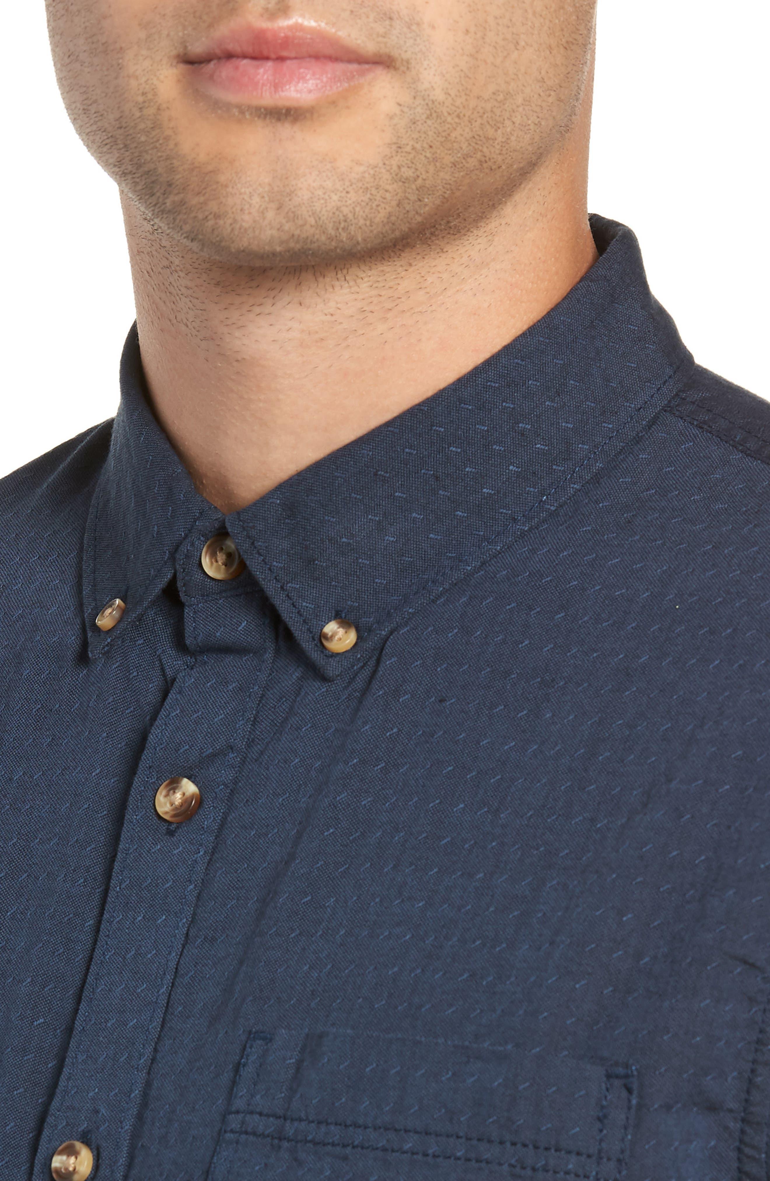 Wakefield Woven Shirt,                             Alternate thumbnail 2, color,                             DRESS BLUES
