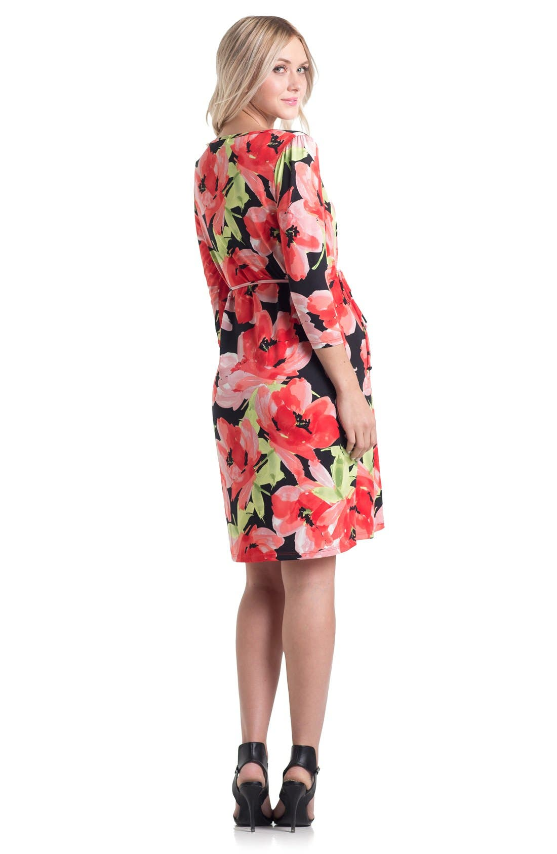 Print Maternity Dress,                             Alternate thumbnail 5, color,                             960