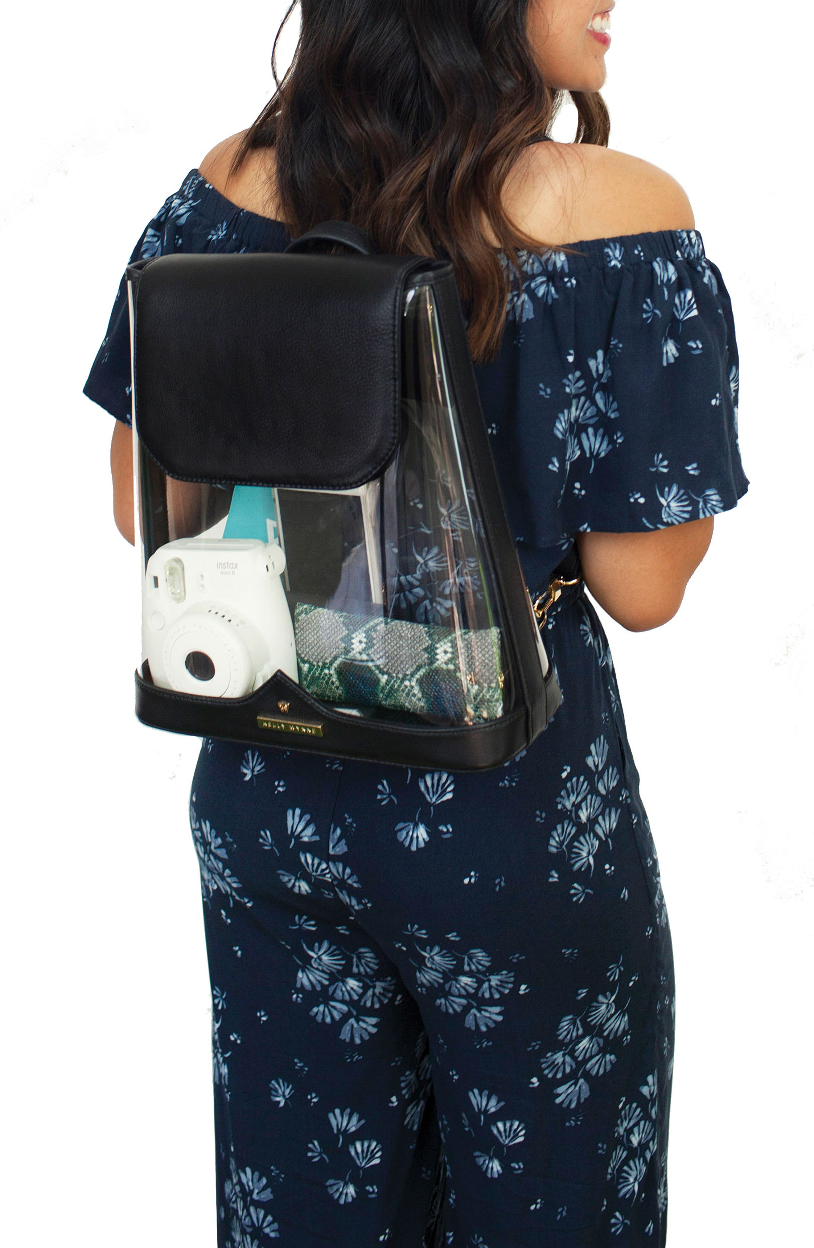 KELLY WYNNE,                             Clear BYOBackpack,                             Alternate thumbnail 2, color,                             BLACK