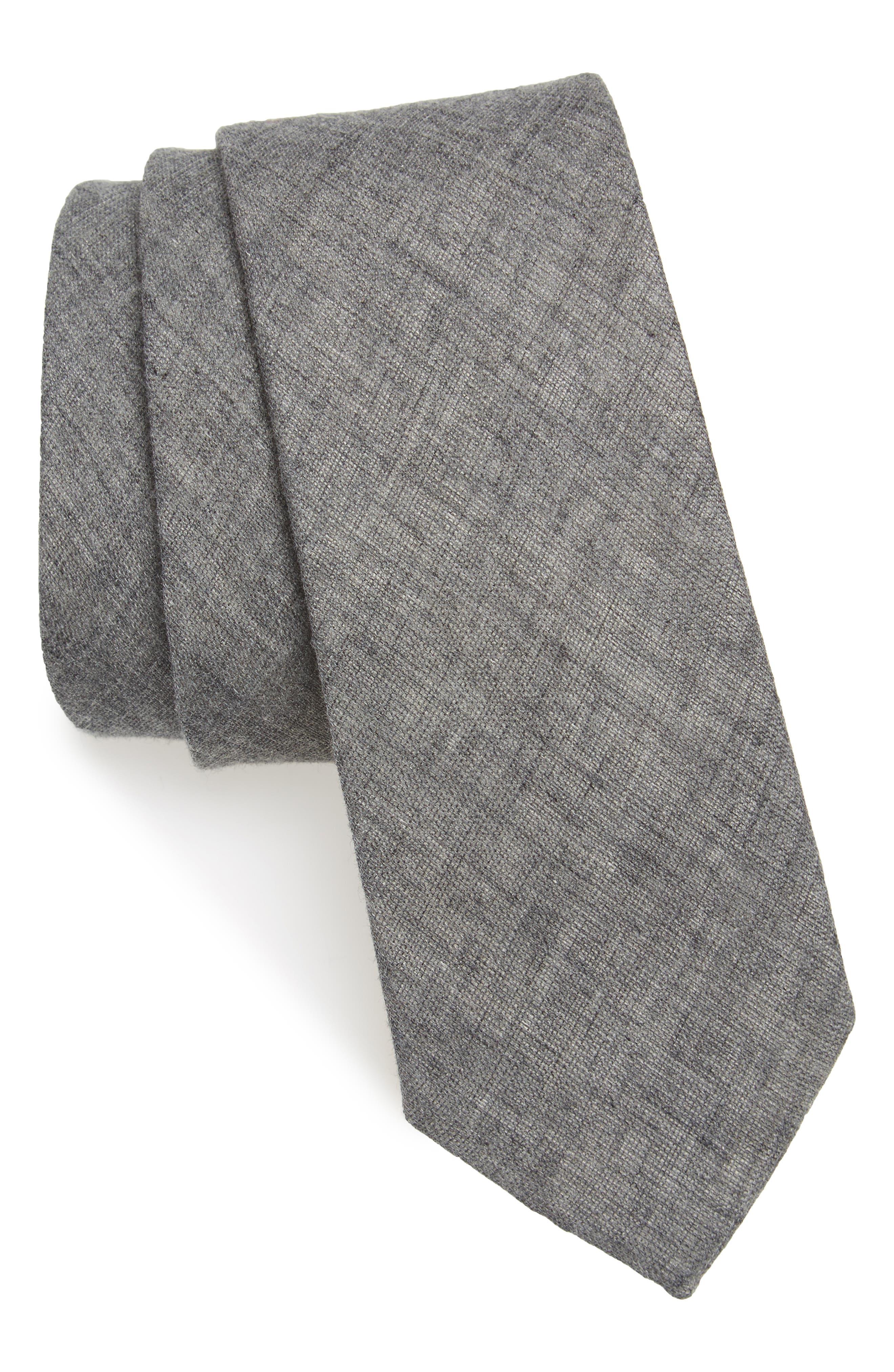 Bedell Solid Cotton Tie,                         Main,                         color, 001