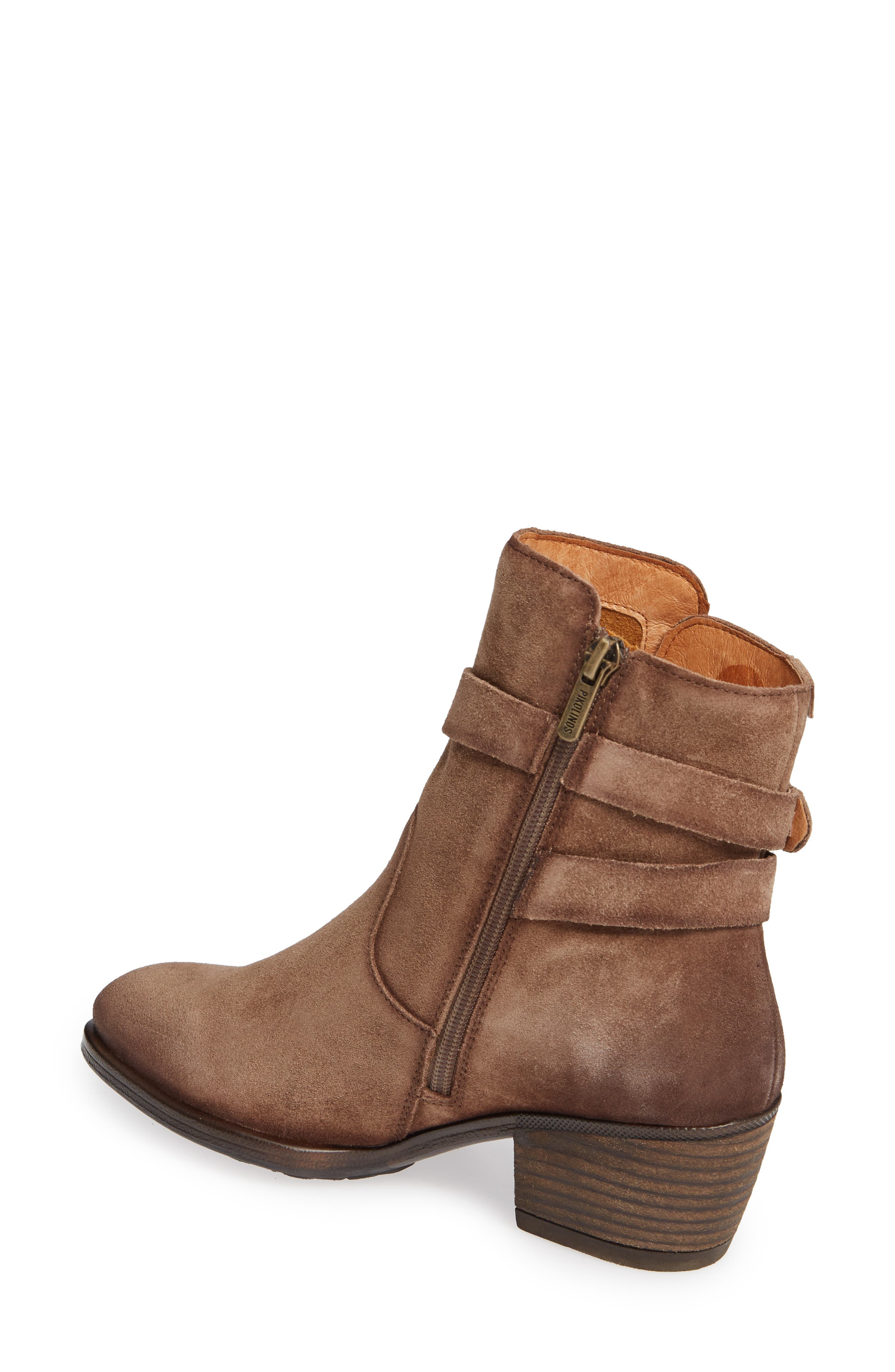 Baqueira Belted Bootie,                             Alternate thumbnail 2, color,                             STONE SUEDE