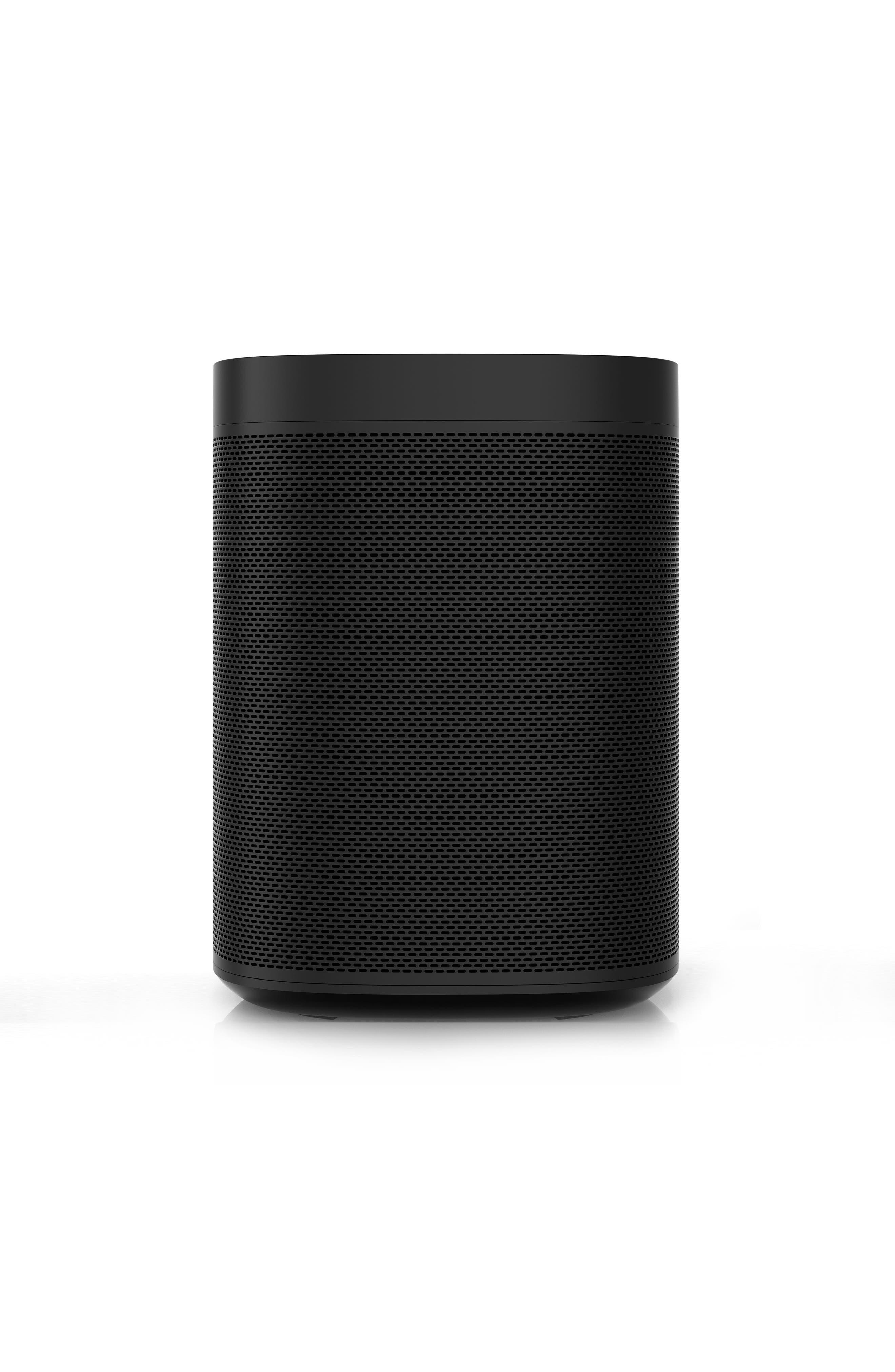One Voice Controlled Smart Speaker,                             Alternate thumbnail 6, color,                             BLACK