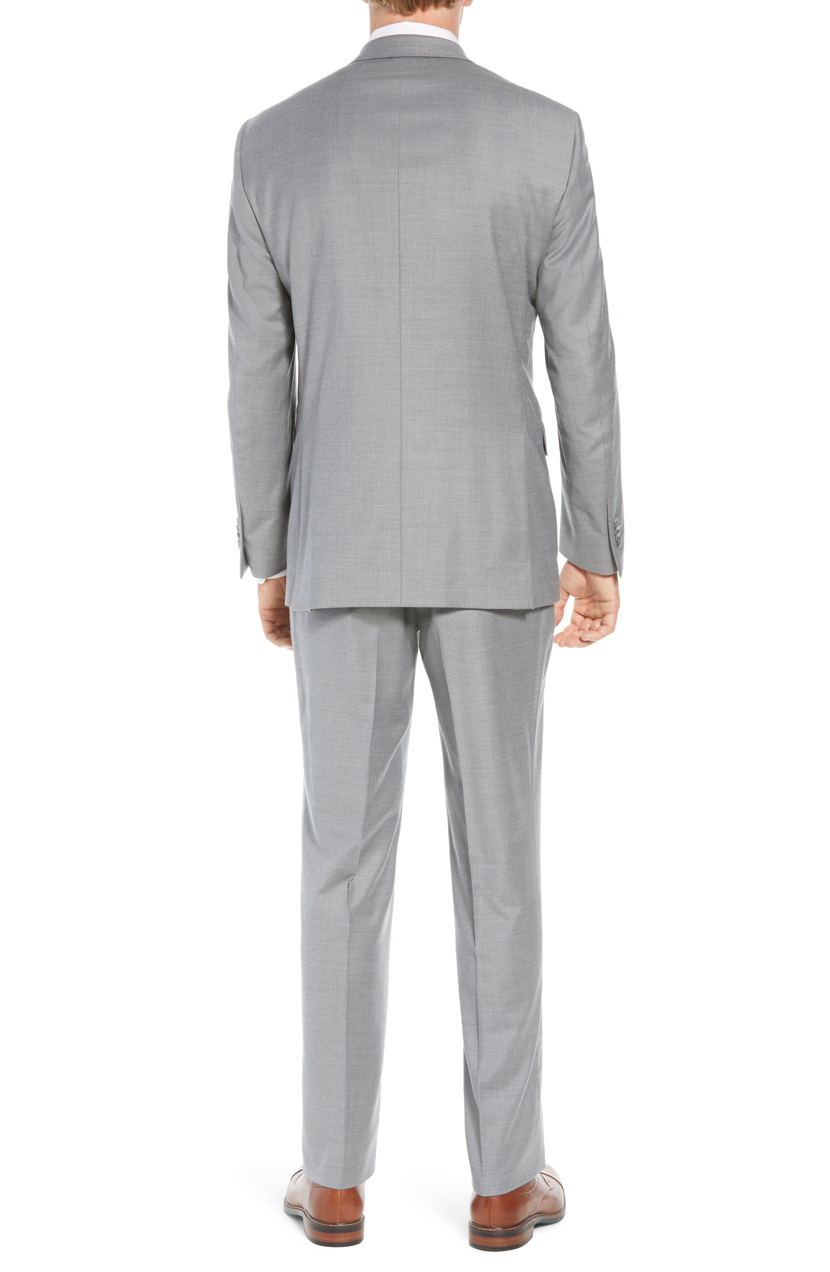 Flynn Classic Fit Solid Wool Suit,                             Alternate thumbnail 2, color,                             LIGHT GREY