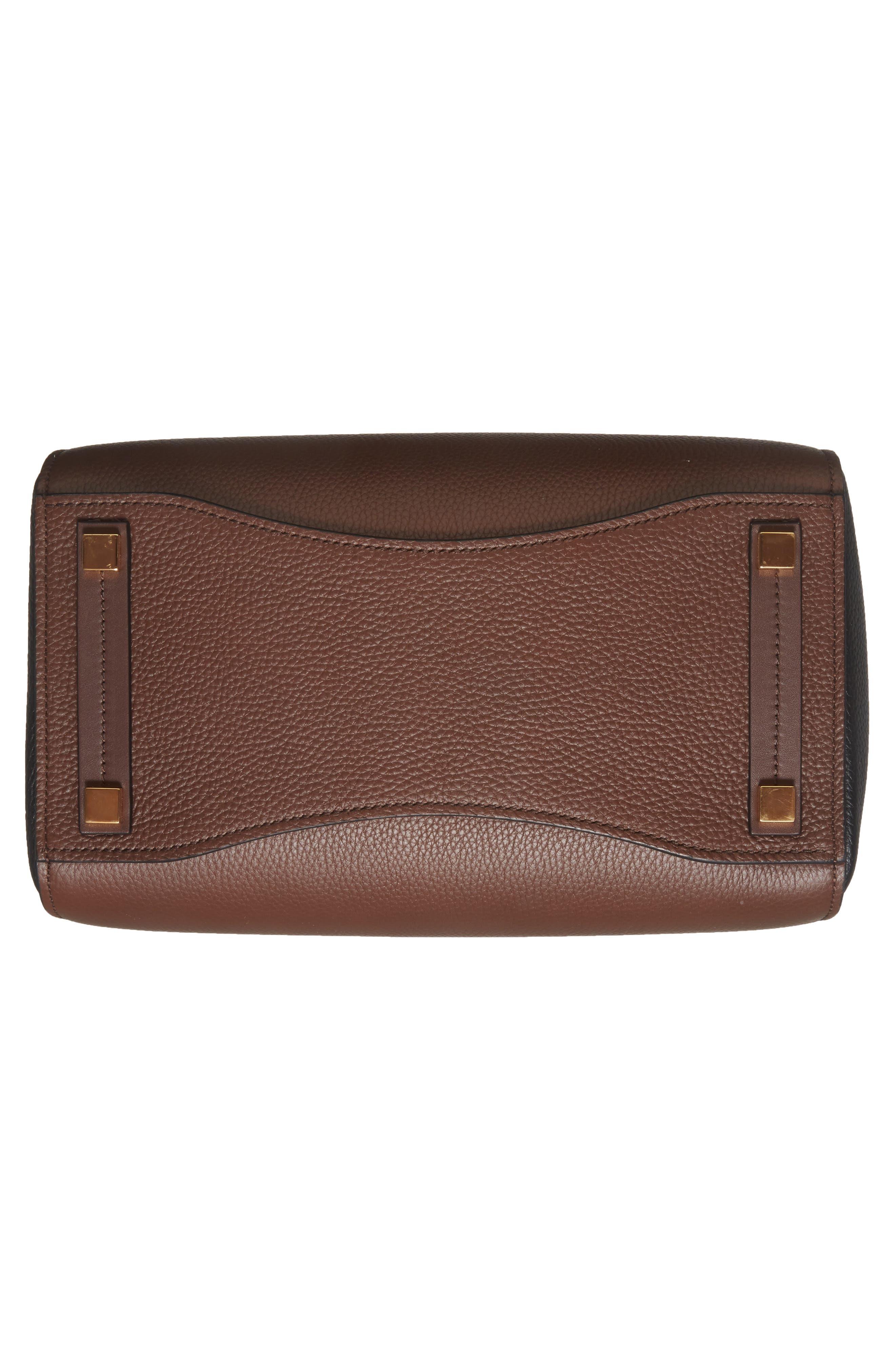 Large Bancroft Tricolor Leather Top Handle Satchel,                             Alternate thumbnail 6, color,                             210