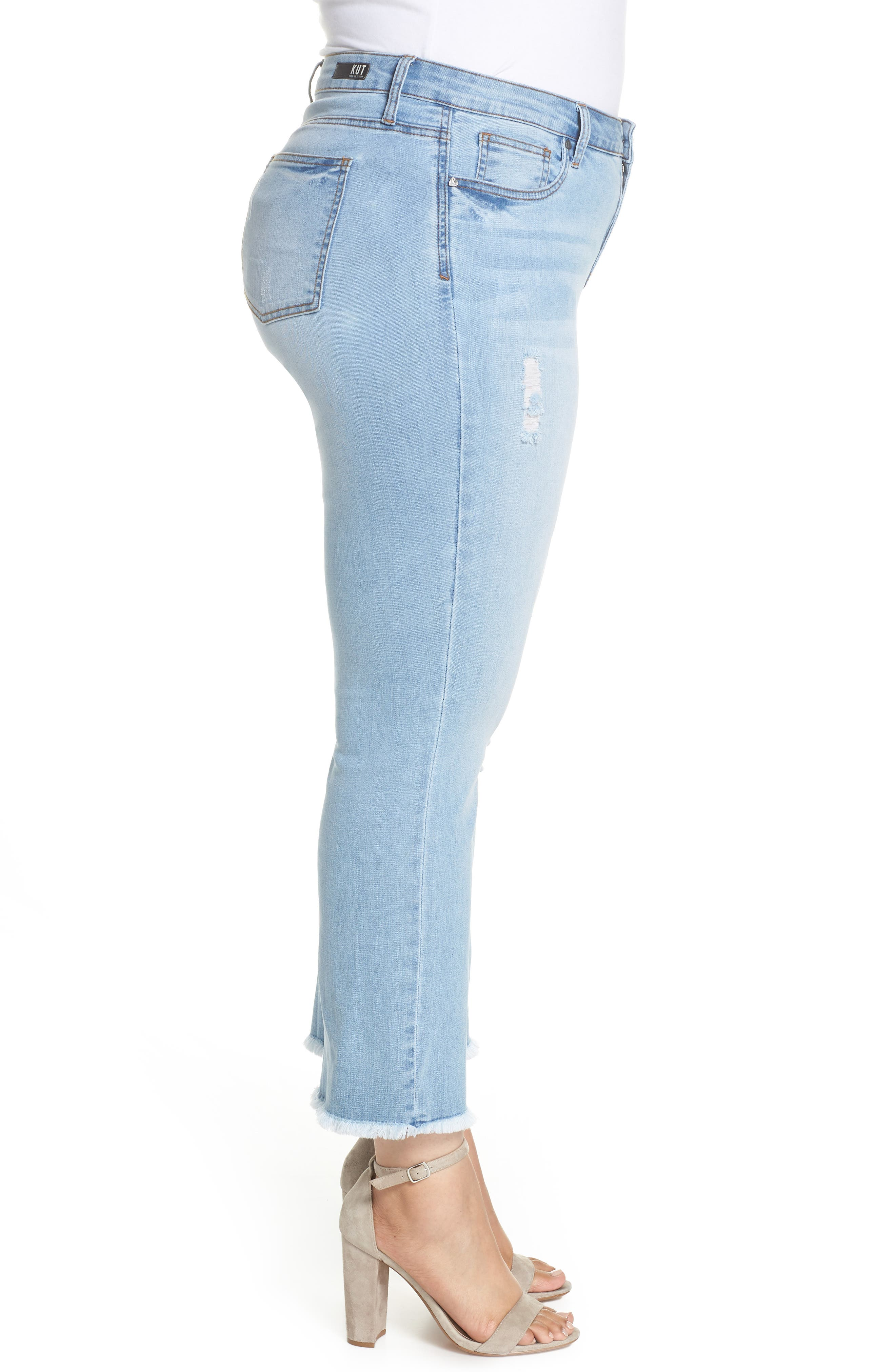 Stella Kick Flare Jeans,                             Alternate thumbnail 3, color,                             COMPETED