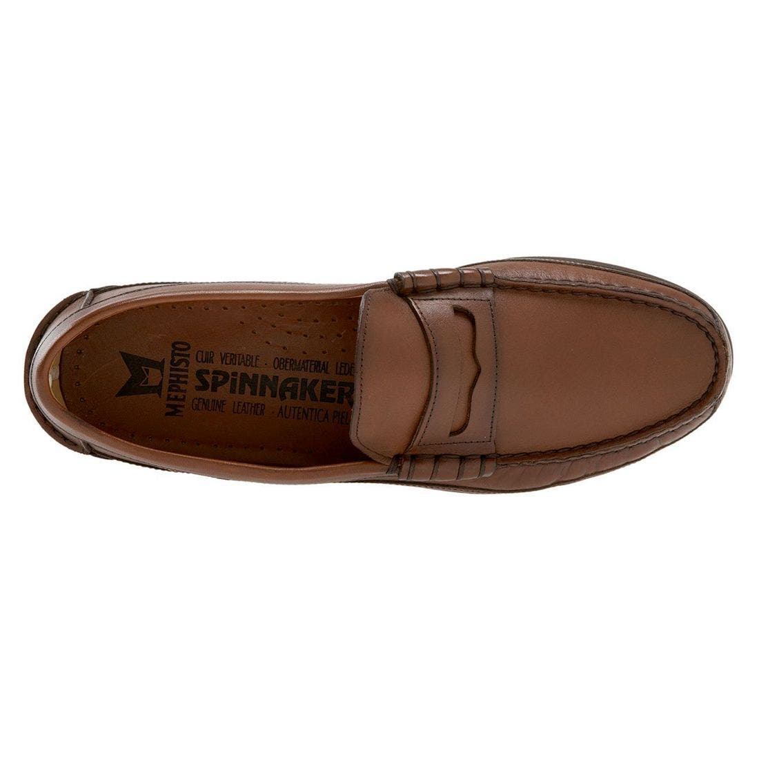 'Cap Vert' Penny Loafer,                             Alternate thumbnail 3, color,                             Rust Leather