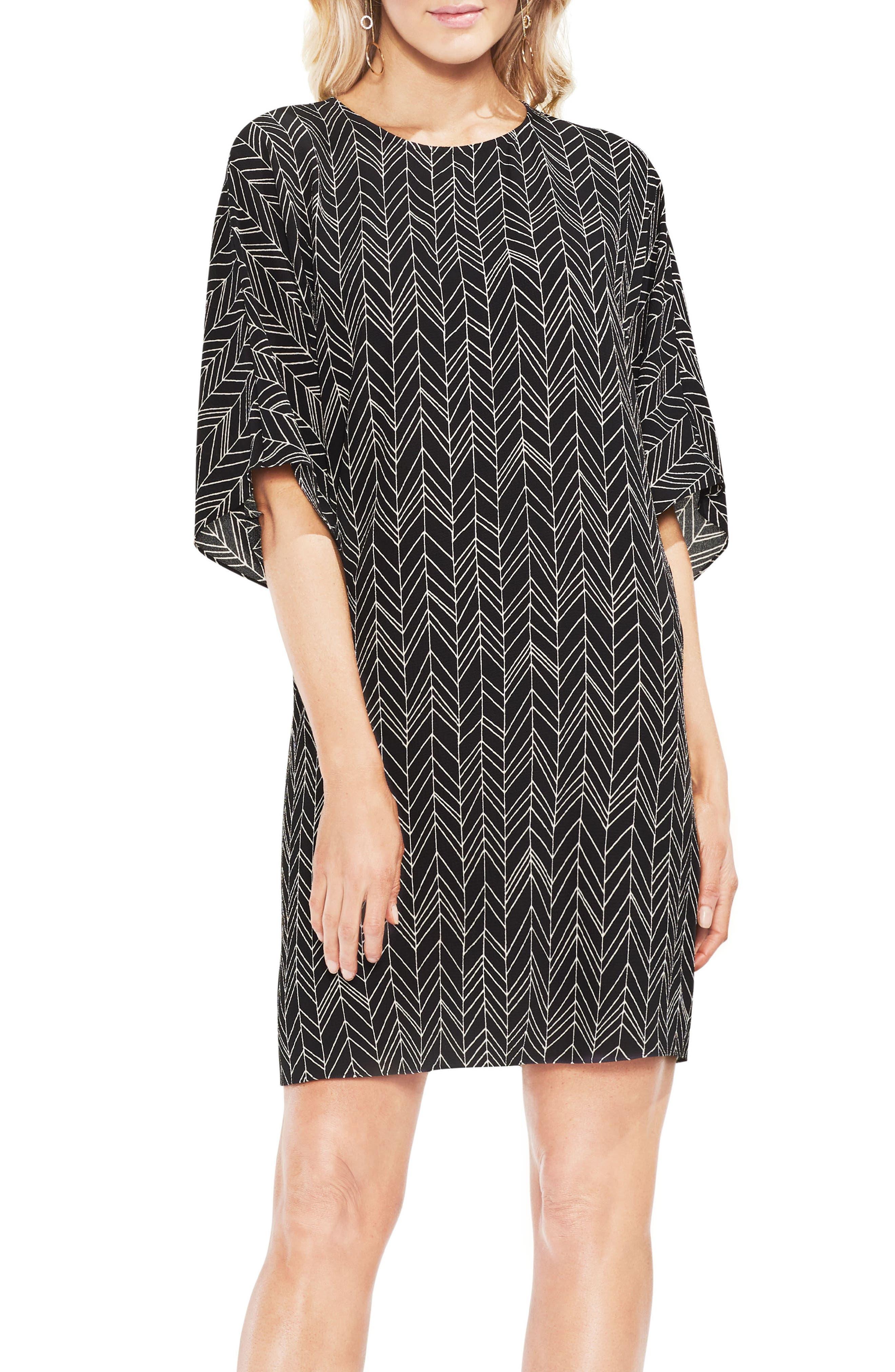 Herringbone Graphic Dress,                         Main,                         color, 001