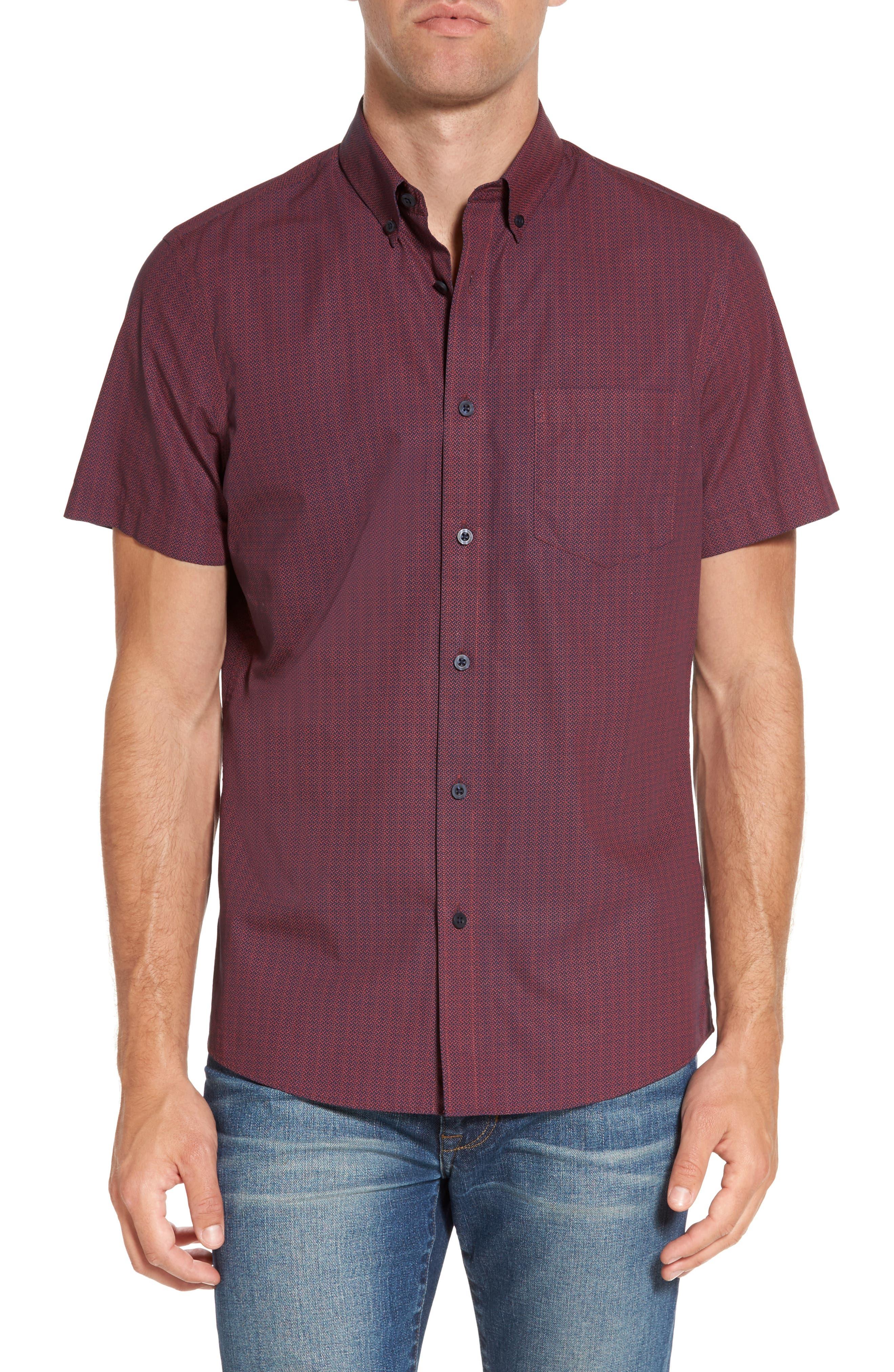 Slim Fit Print Sport Shirt,                         Main,                         color, 601