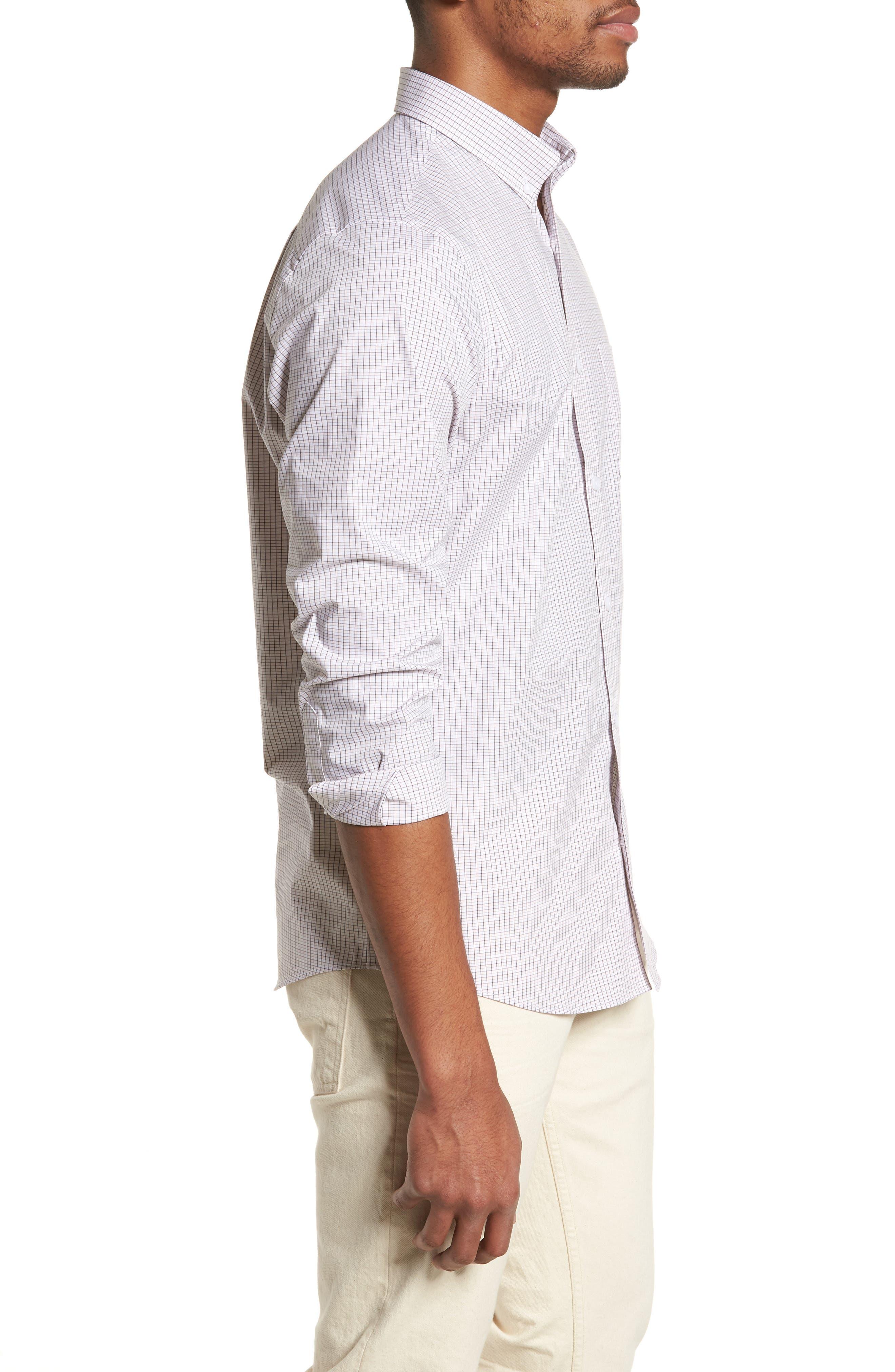 Tech-Smart Regular Fit Check Sport Shirt,                             Alternate thumbnail 3, color,