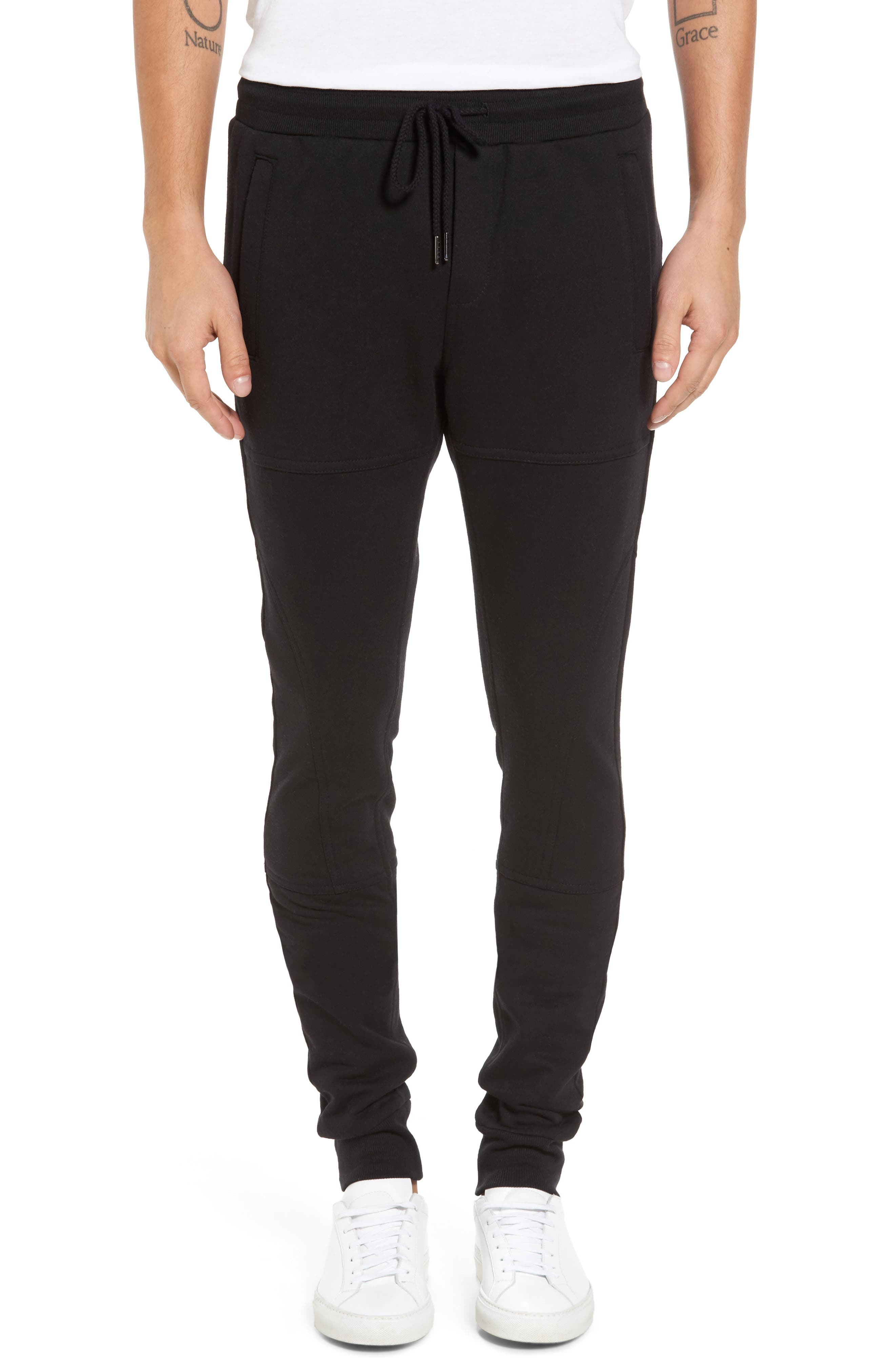 French Terry Sweatpants,                         Main,                         color, 001