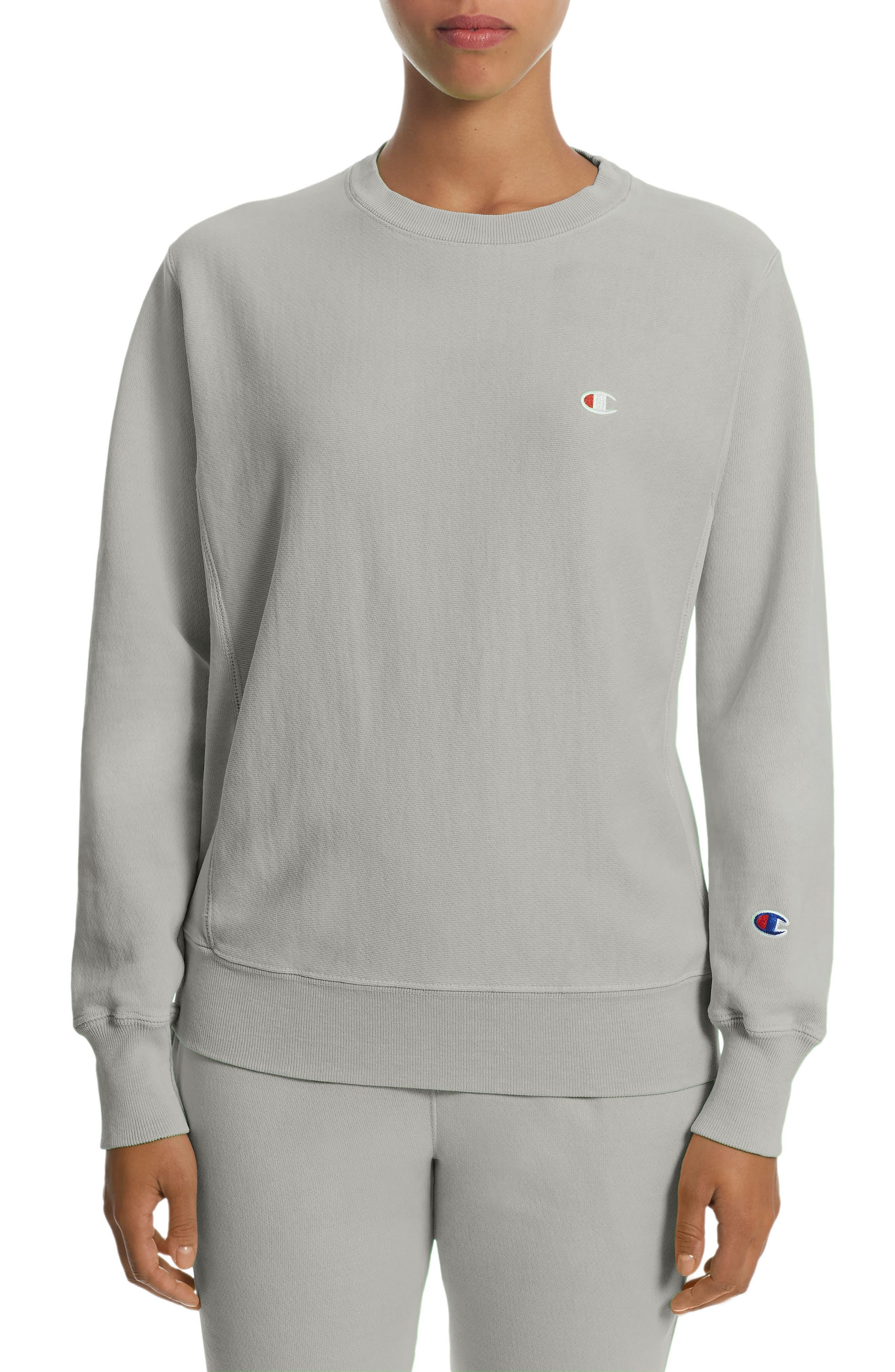 Pigment Dyed Reverse Weave<sup>®</sup> Crewneck Sweatshirt,                         Main,                         color, 020