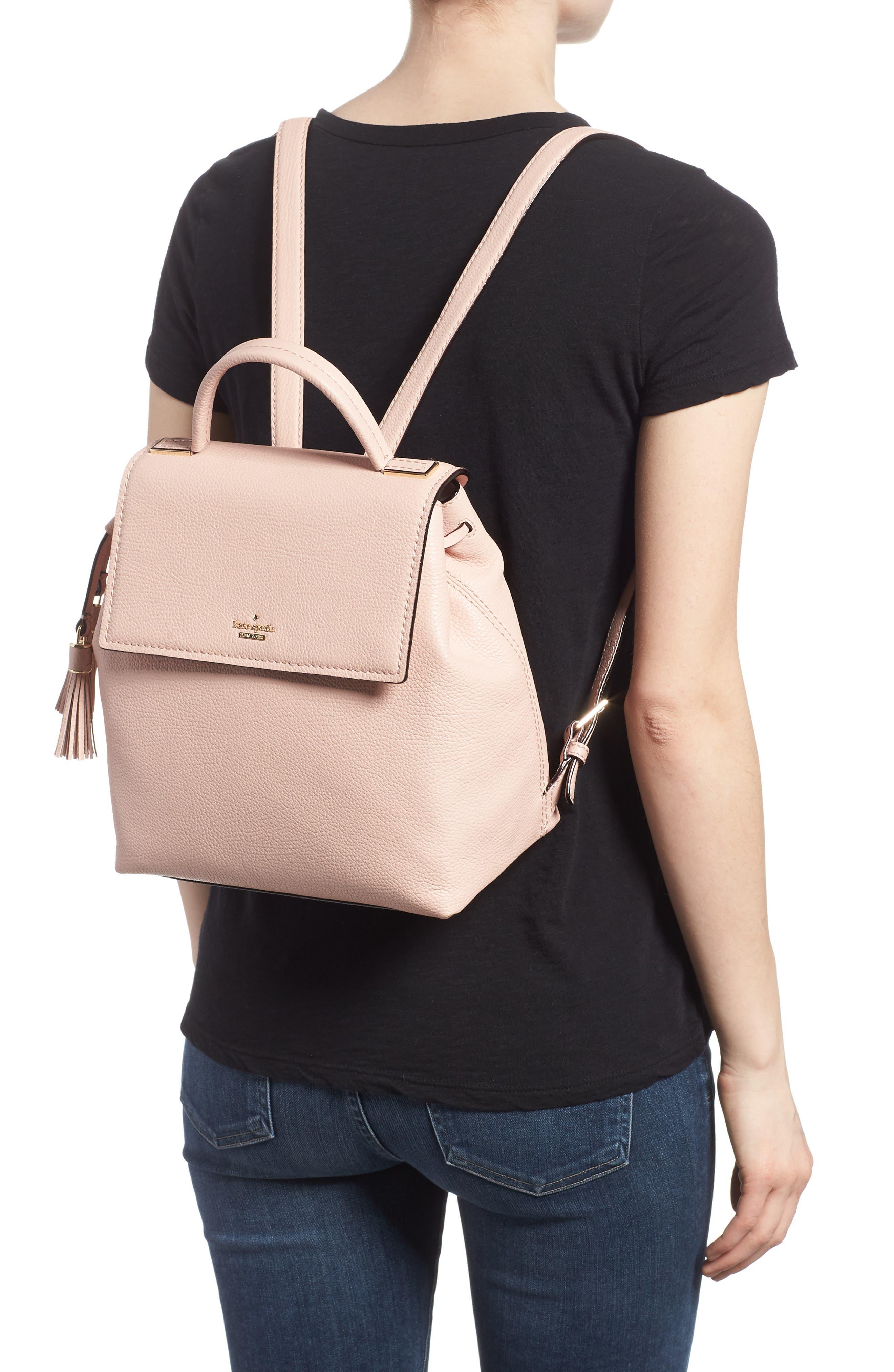 kingston drive - simona leather backpack,                             Alternate thumbnail 4, color,
