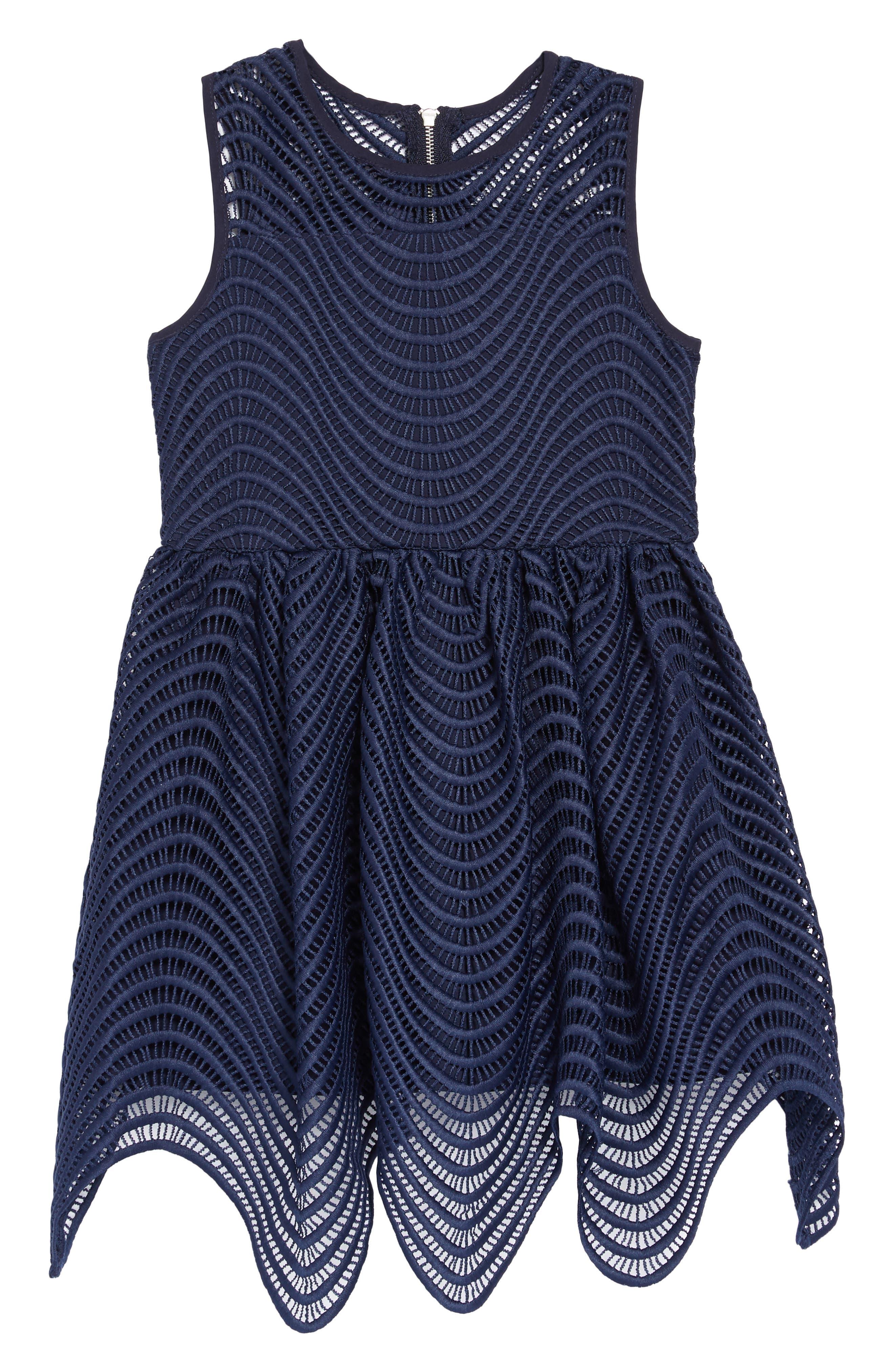 Spiral Lace Fit & Flare Dress BARDOT JUNIOR