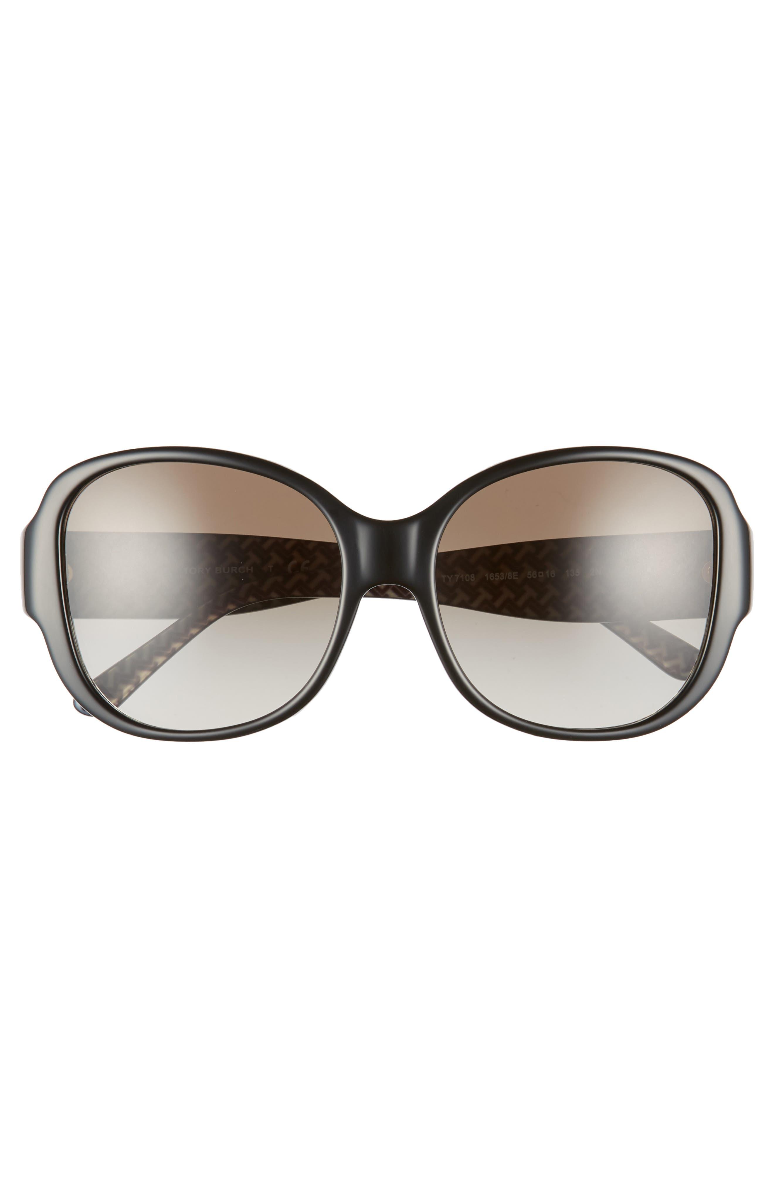 56mm Gradient Retro Sunglasses,                             Alternate thumbnail 3, color,                             009