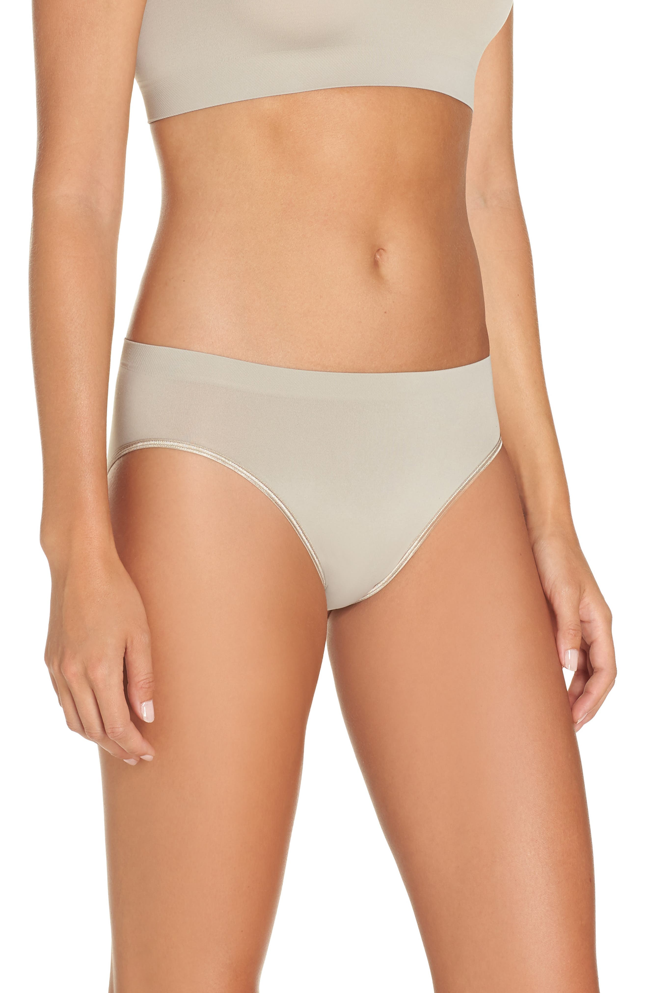 'Touch Feeling' High Cut Briefs,                             Alternate thumbnail 3, color,                             NATURAL STONE