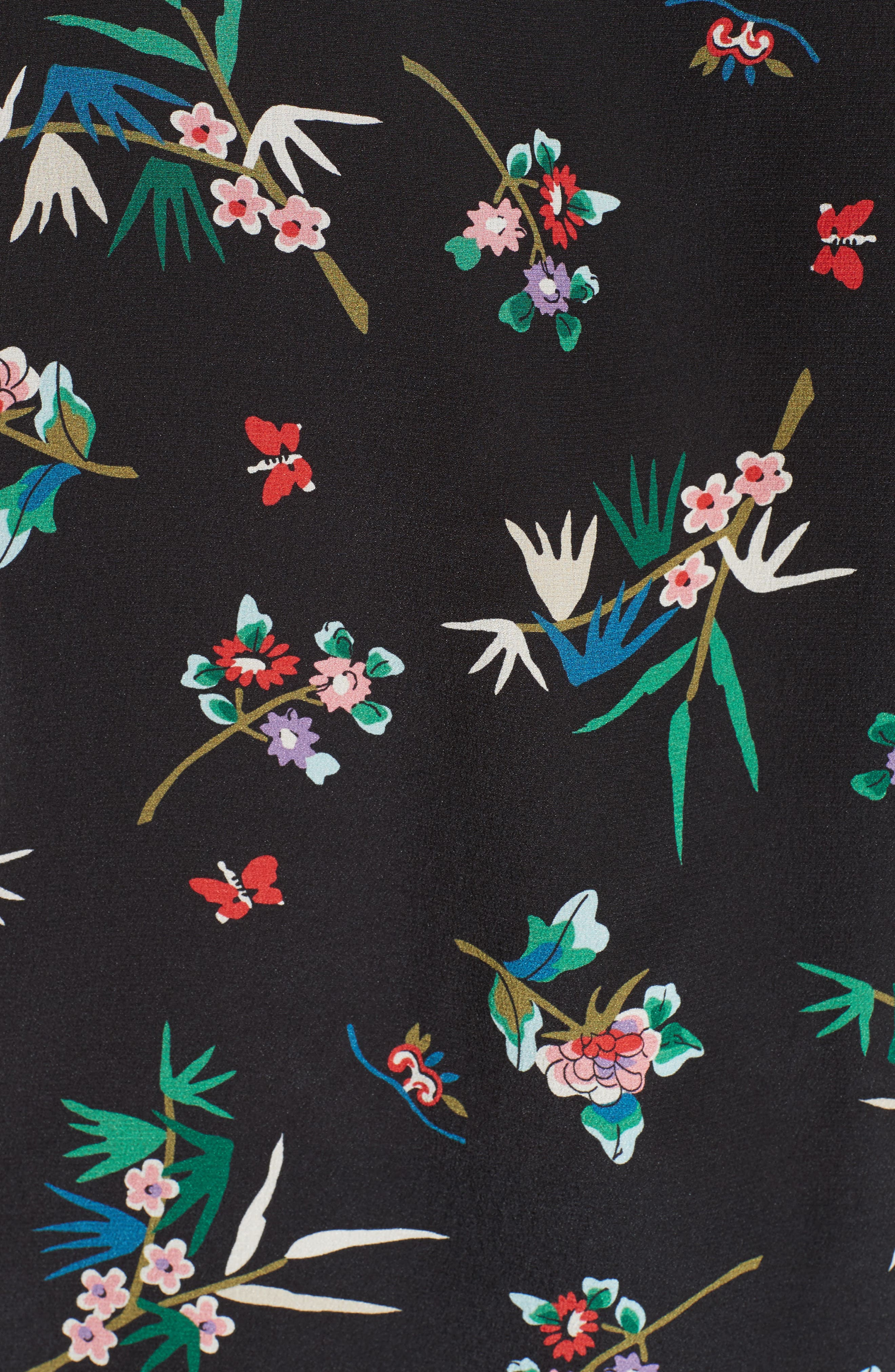 Wallpaper Floral Print Silk Blouse,                             Alternate thumbnail 5, color,                             001