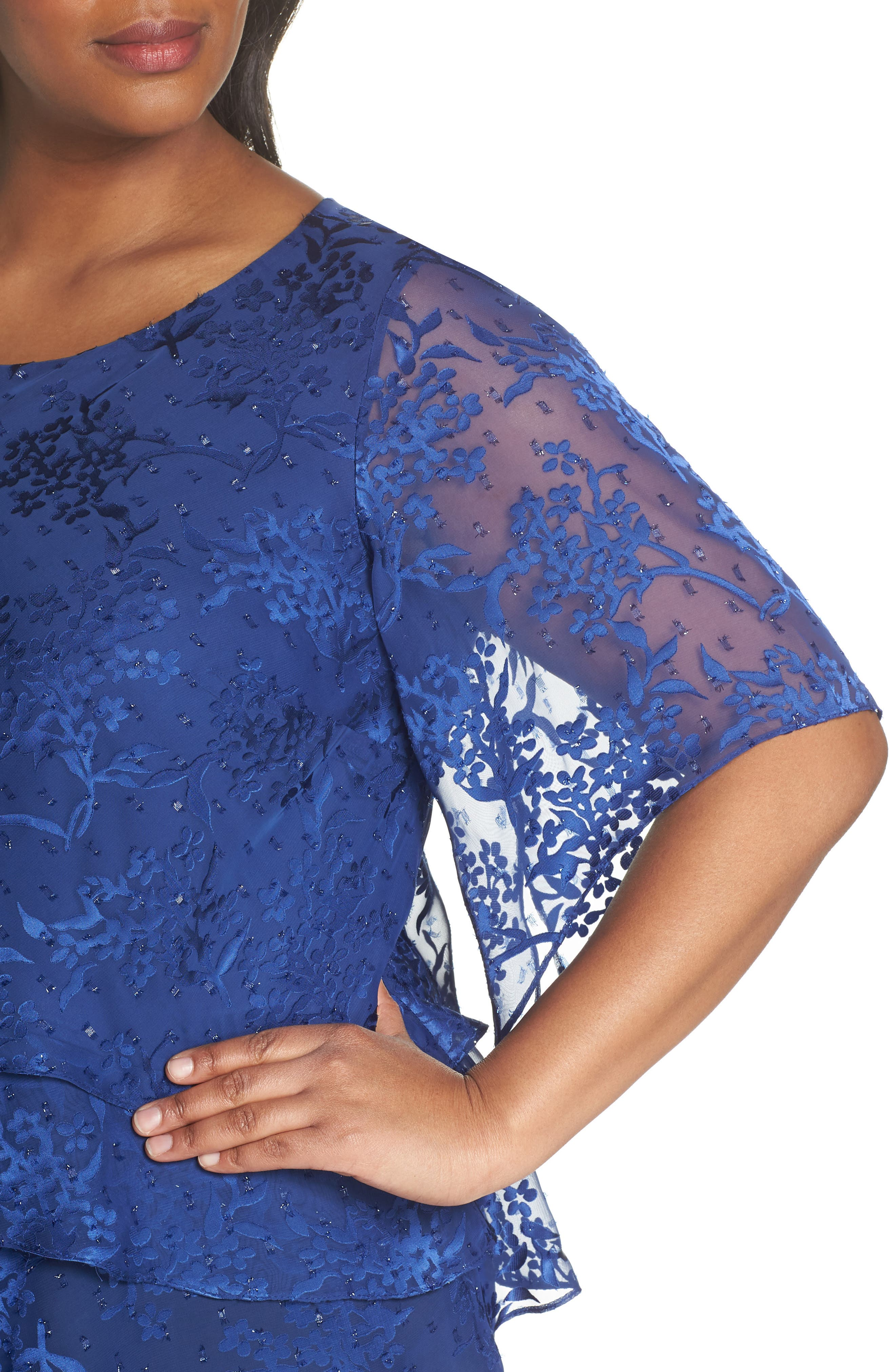 Embroidered Asymmetrical Top,                             Alternate thumbnail 8, color,