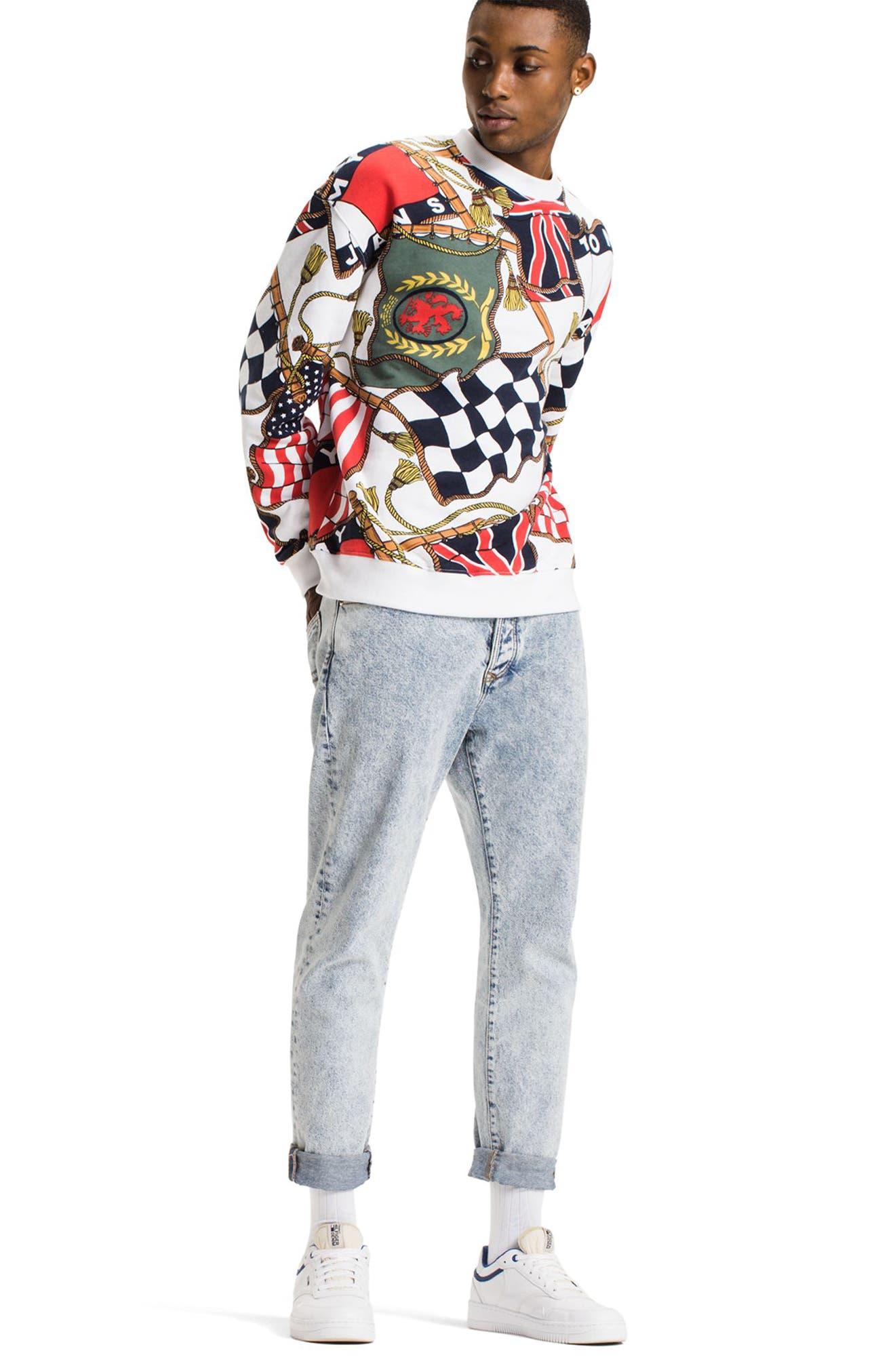 TOMMY HILFIGER,                             90s Sweatshirt,                             Alternate thumbnail 8, color,                             101