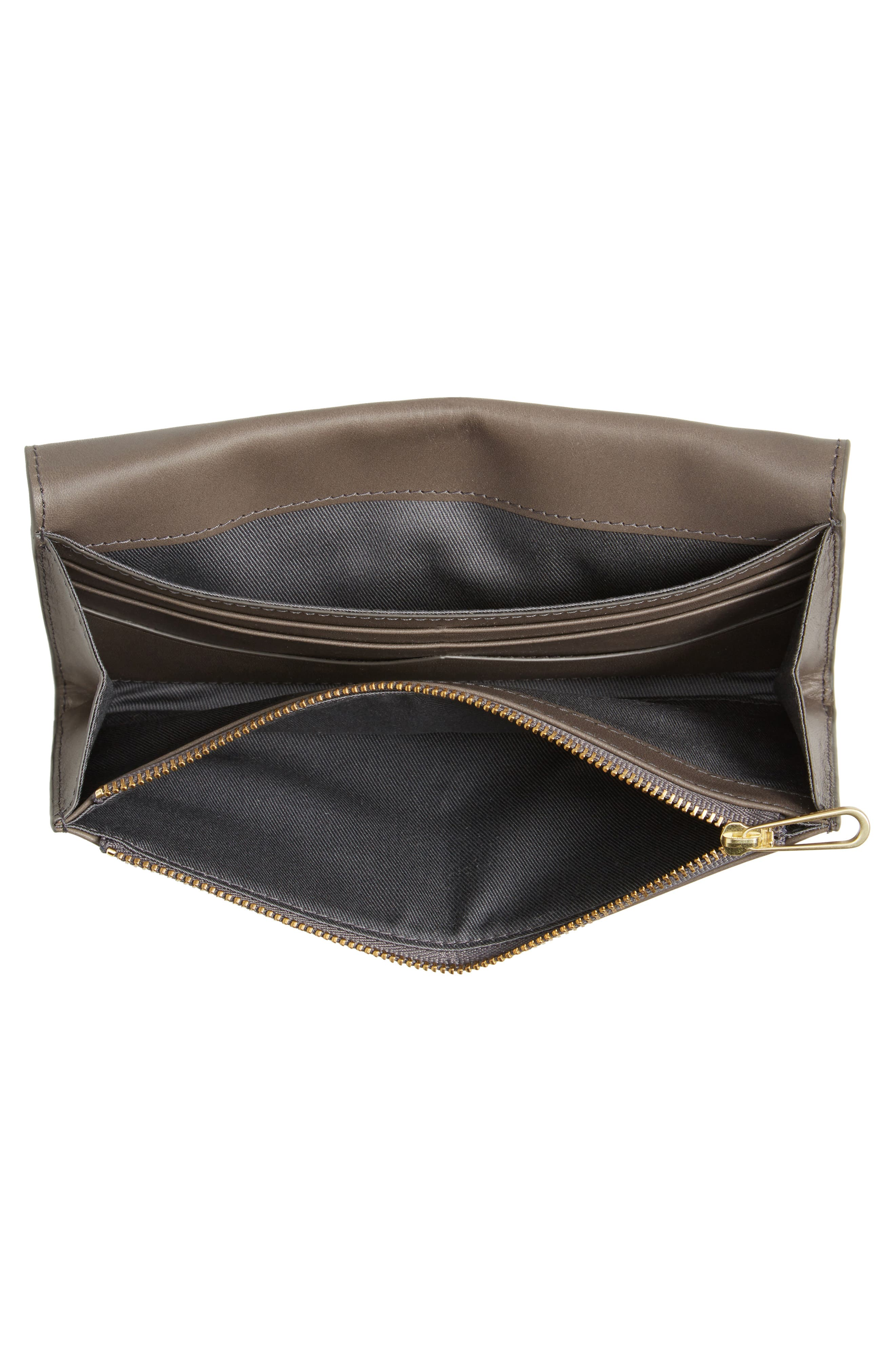Leather Continental Flap Wallet,                             Alternate thumbnail 4, color,                             020