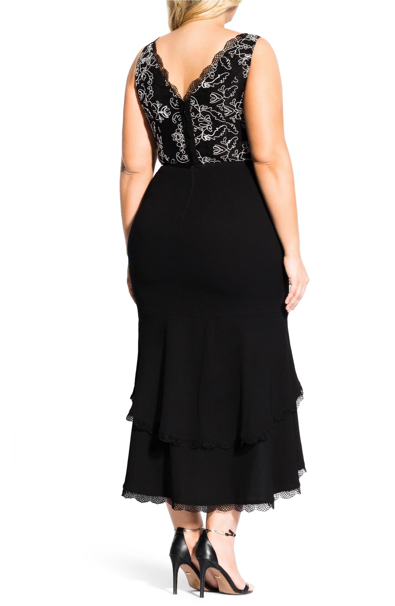 dd11035e9de City Chic Sweet Occasion High Low Hem Midi Dress (Plus Size)
