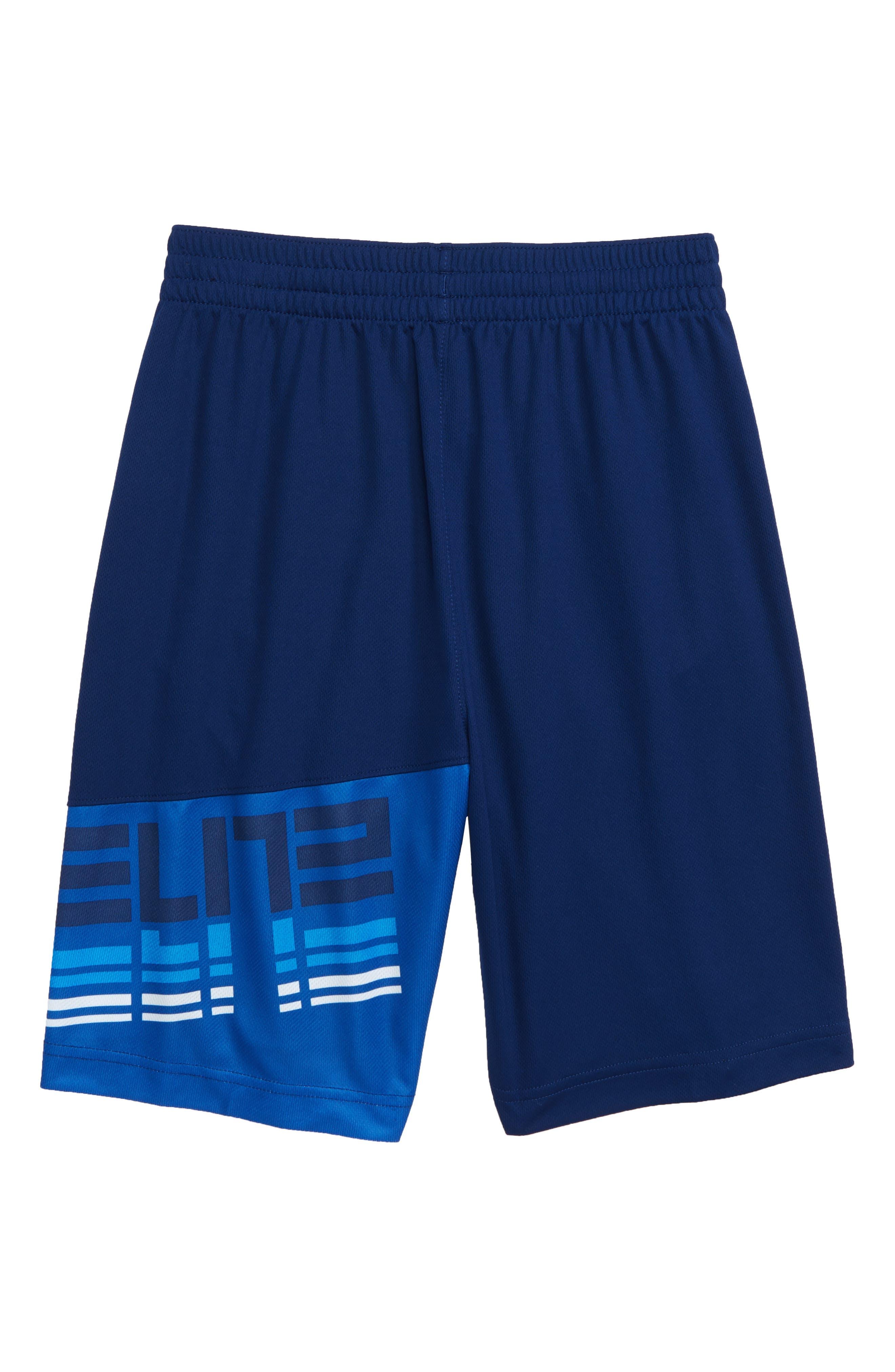 Dry Elite Athletic Shorts,                             Alternate thumbnail 2, color,                             BLUE VOID/ WHITE