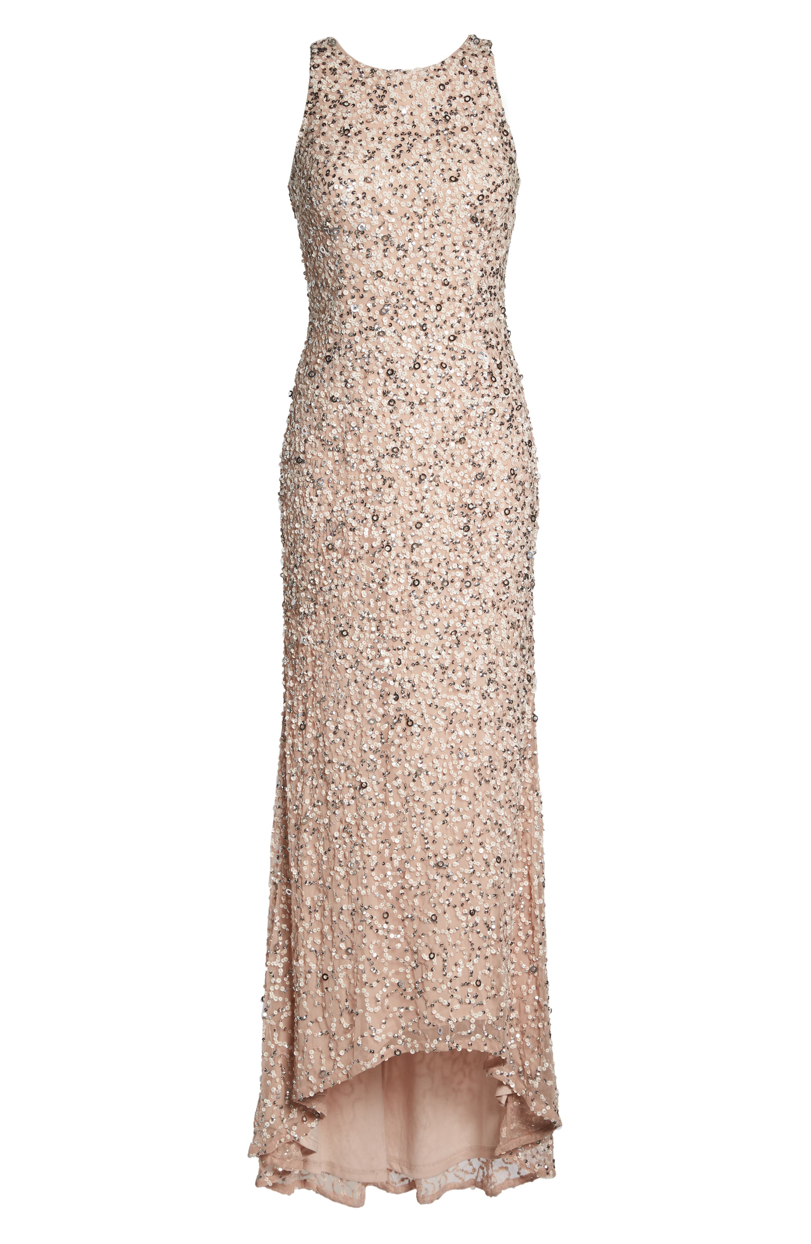 Sequin High/Low Gown,                             Alternate thumbnail 28, color,