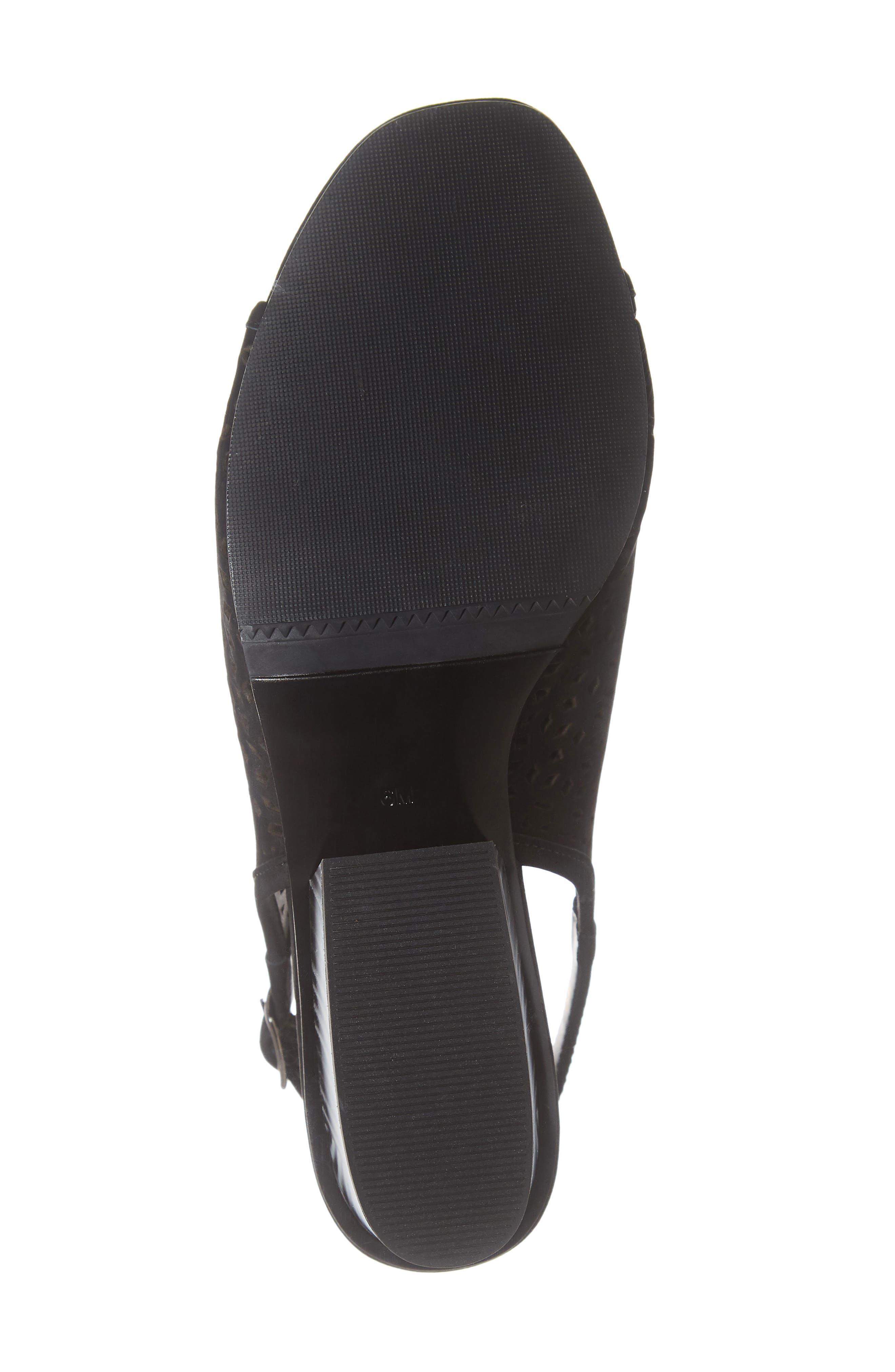 Candra Perforated Sandal,                             Alternate thumbnail 6, color,                             BLACK NUBUCK LEATHER