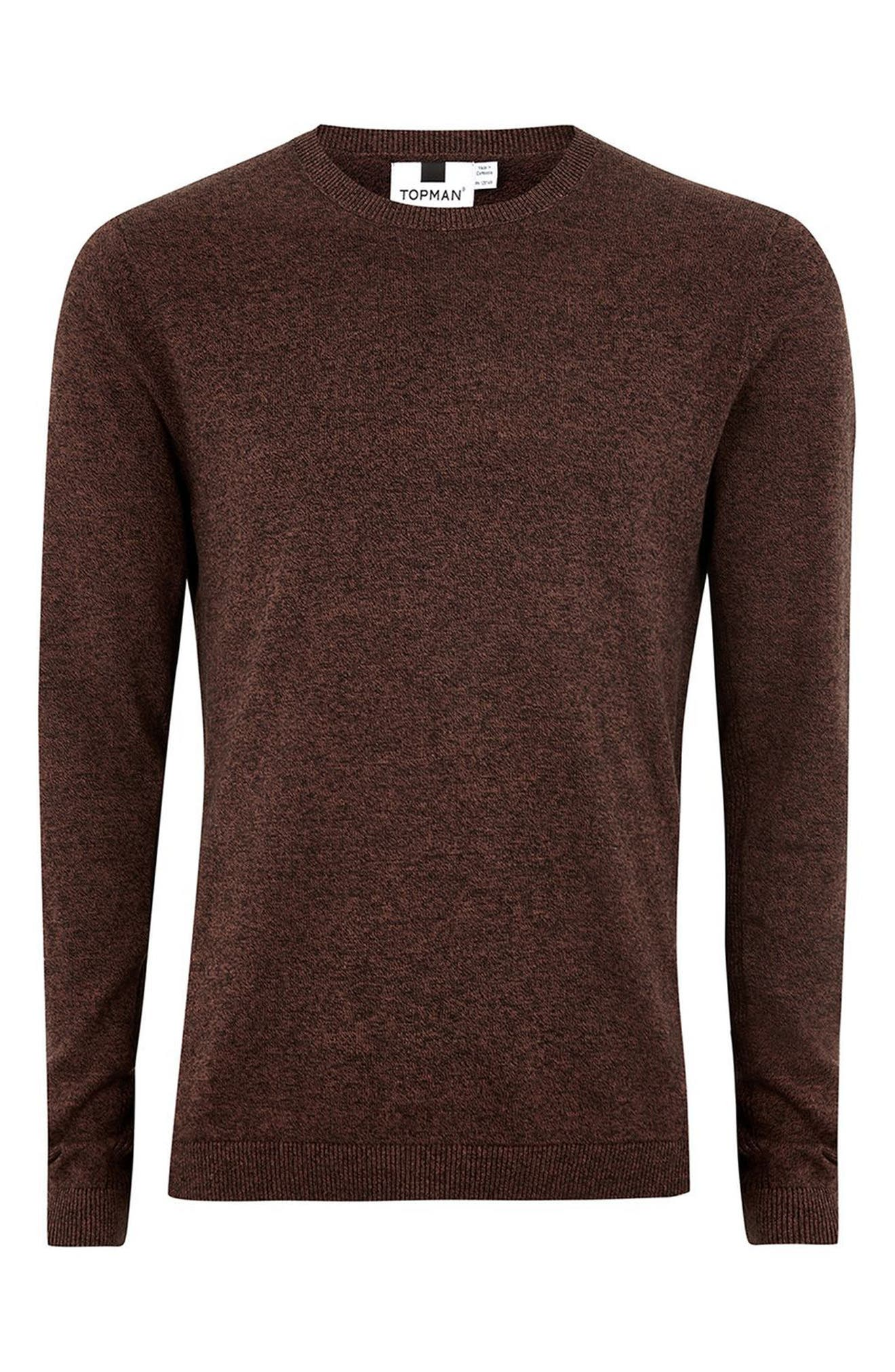 Side Ribbed Slim Fit Sweater,                             Alternate thumbnail 27, color,