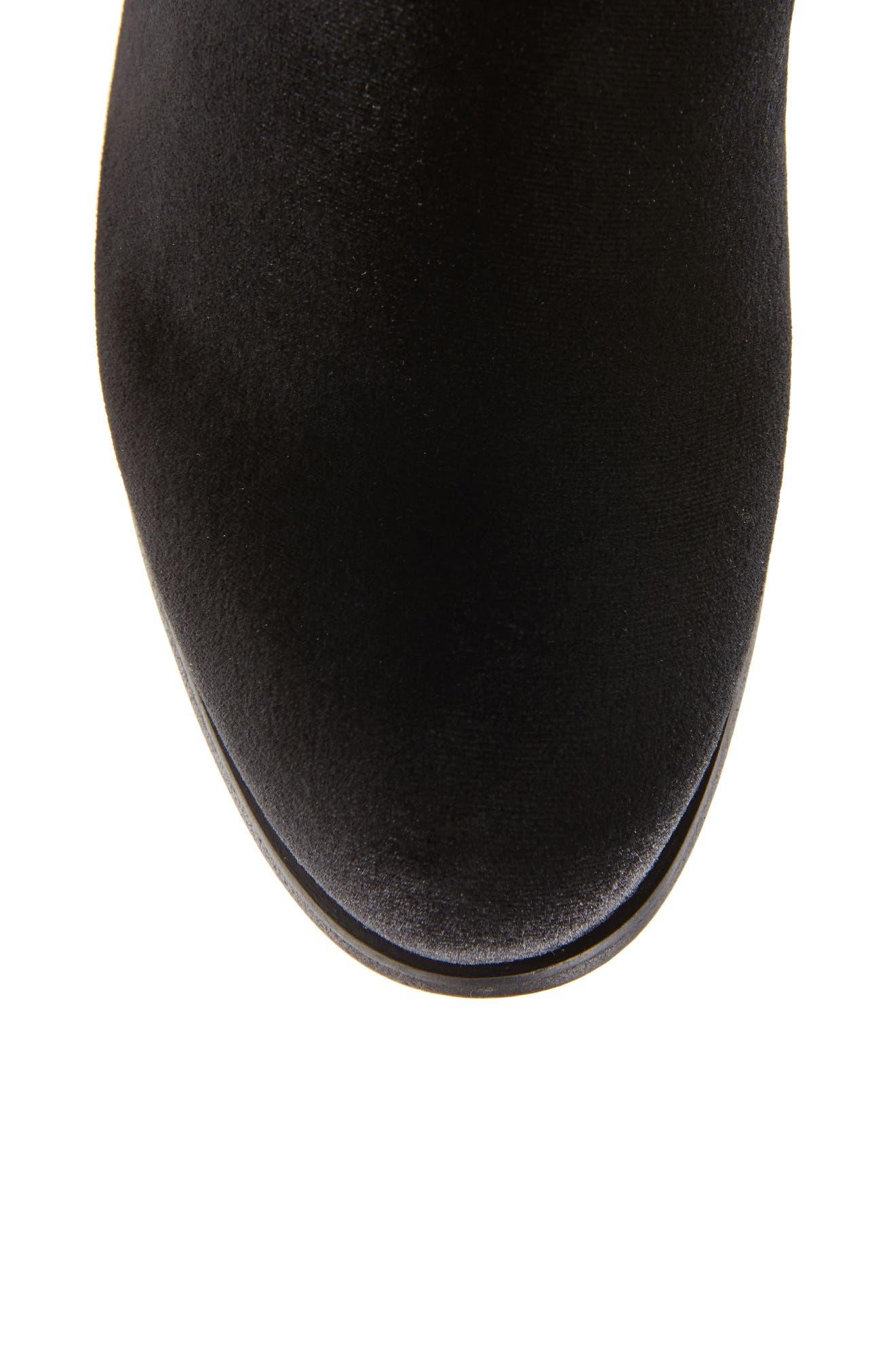 Lowjack Over the Knee Stretch Velvet Boot,                             Alternate thumbnail 9, color,