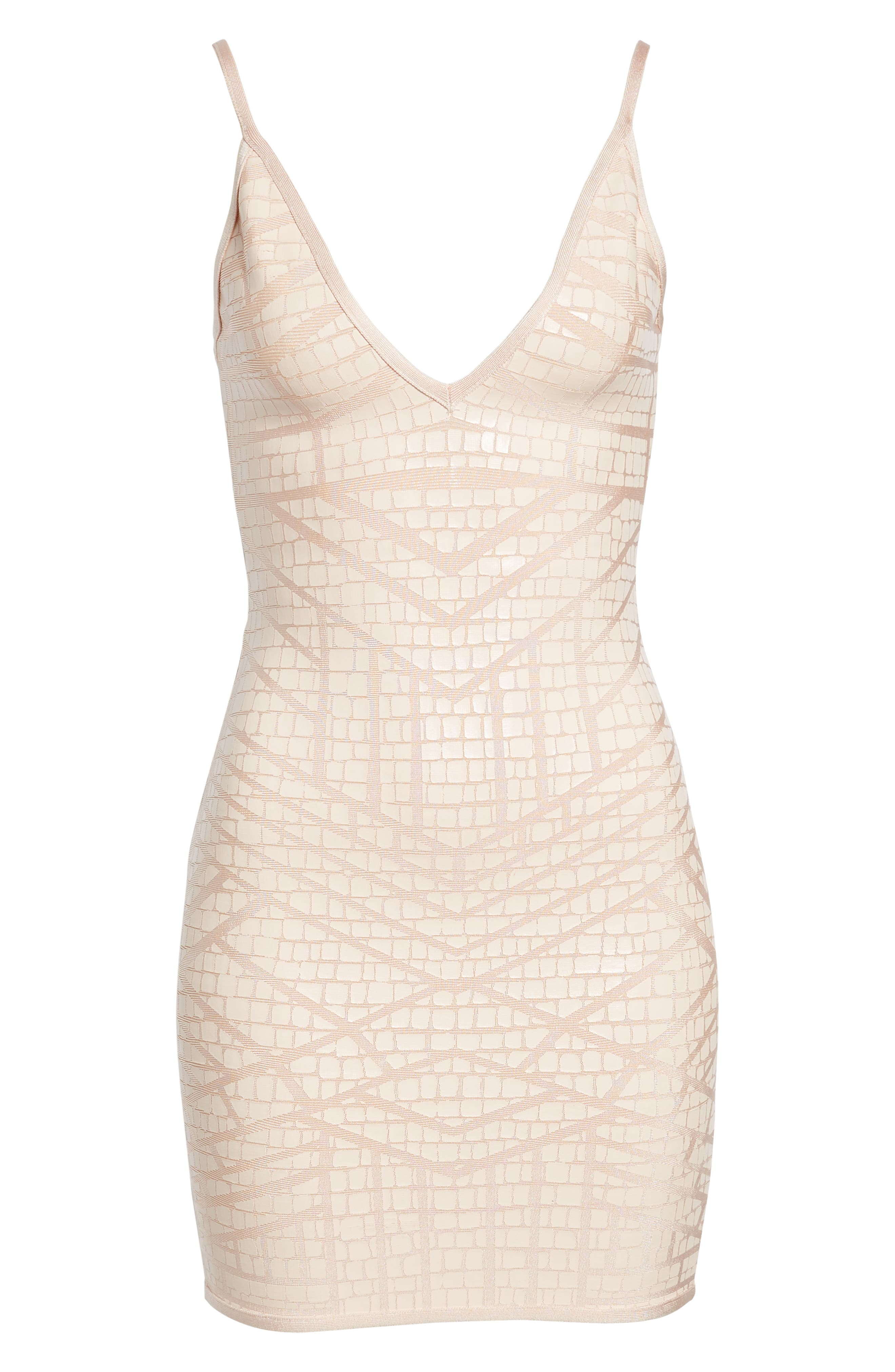 Bandage Body-Con Dress,                             Alternate thumbnail 7, color,                             NUDE