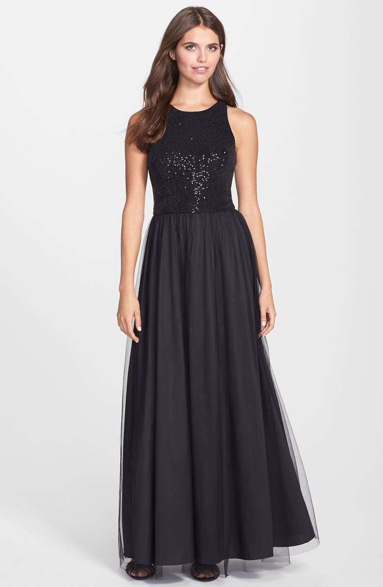 Aidan by Aidan Mattox Sequin Knit Ball Gown | Nordstrom