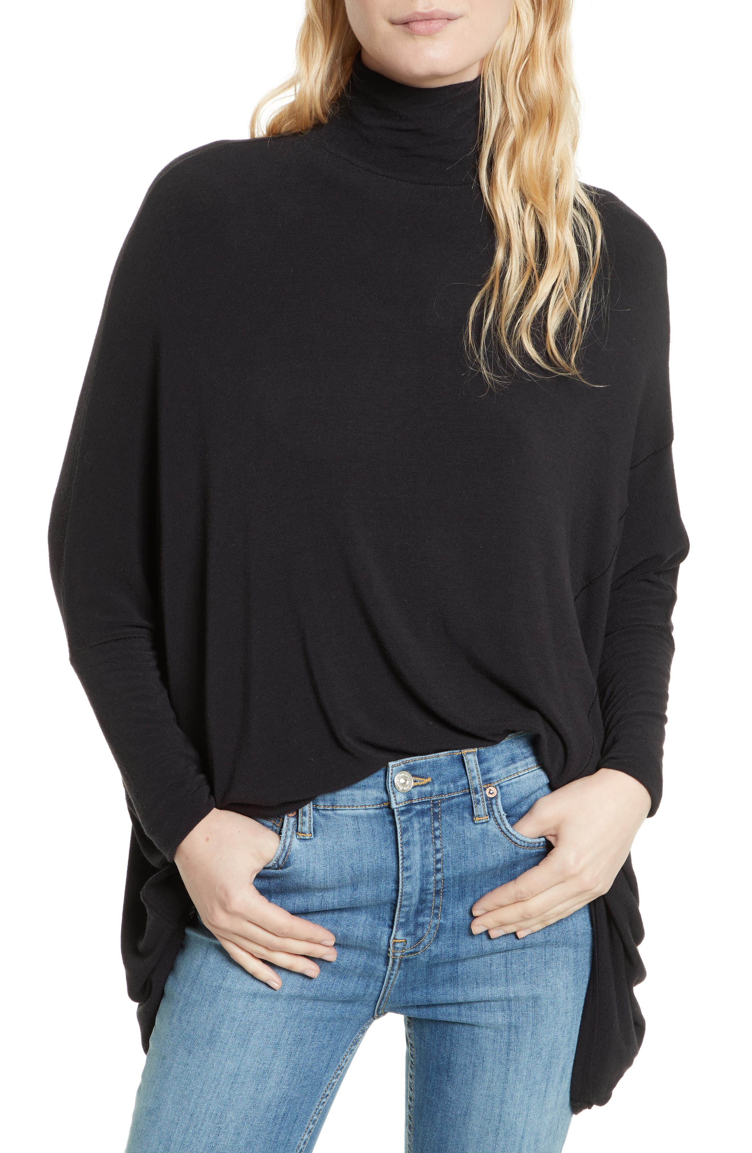 We the Free Terry Turtleneck,                         Main,                         color, 001