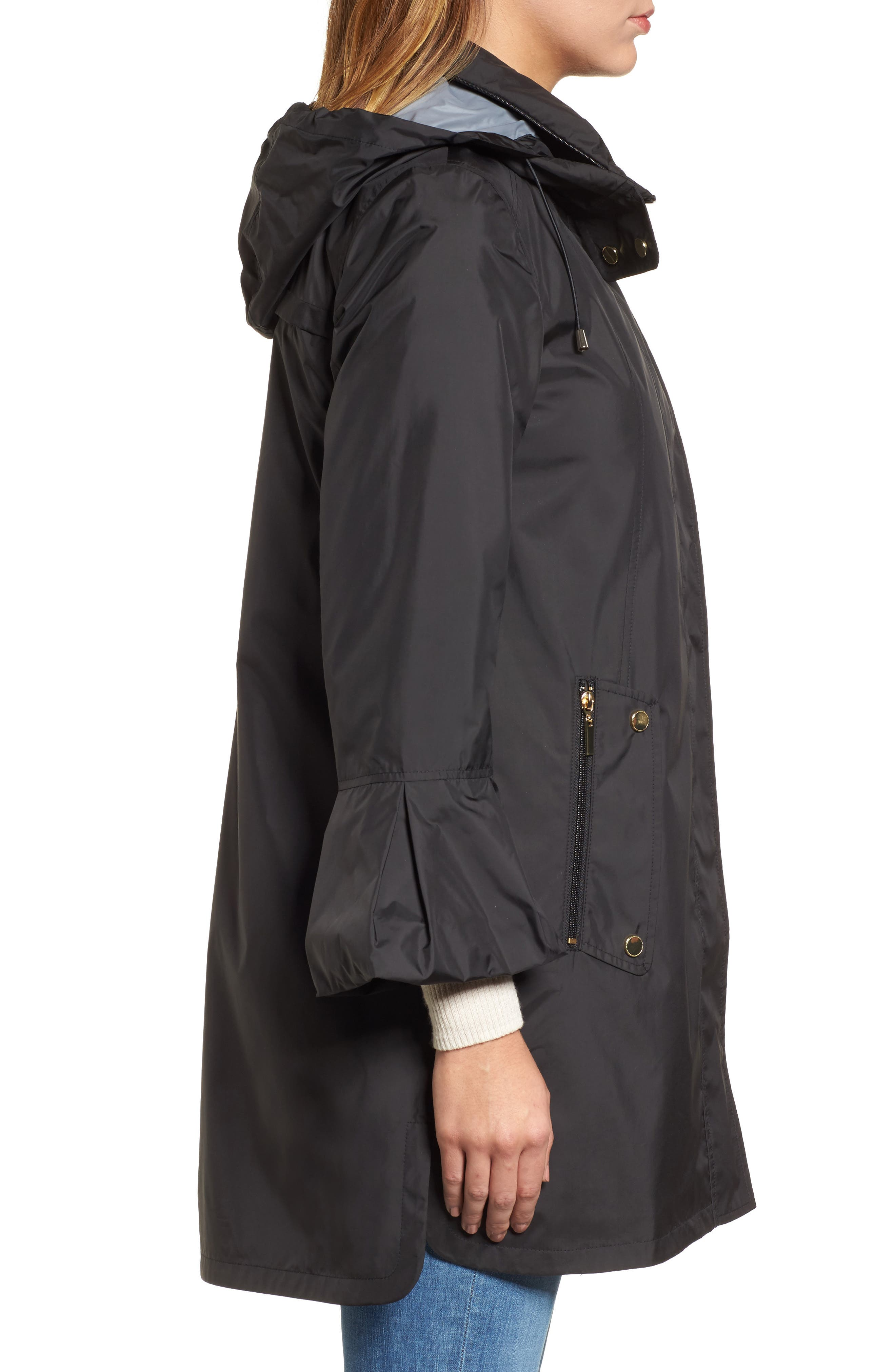 Flare Sleeve Packable Swing Jacket,                             Alternate thumbnail 5, color,