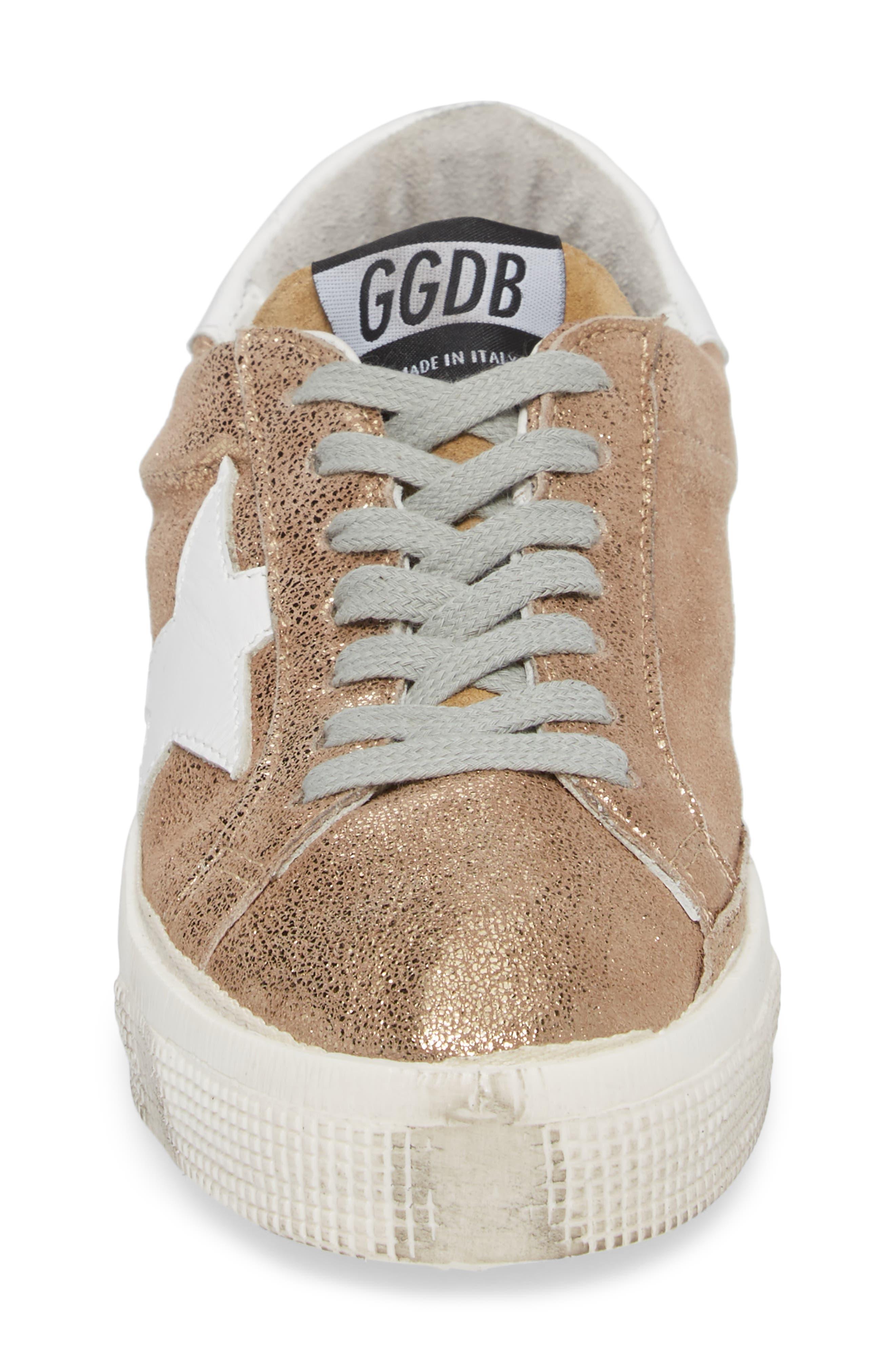 May Metallic Low Top Sneaker,                             Alternate thumbnail 4, color,                             710