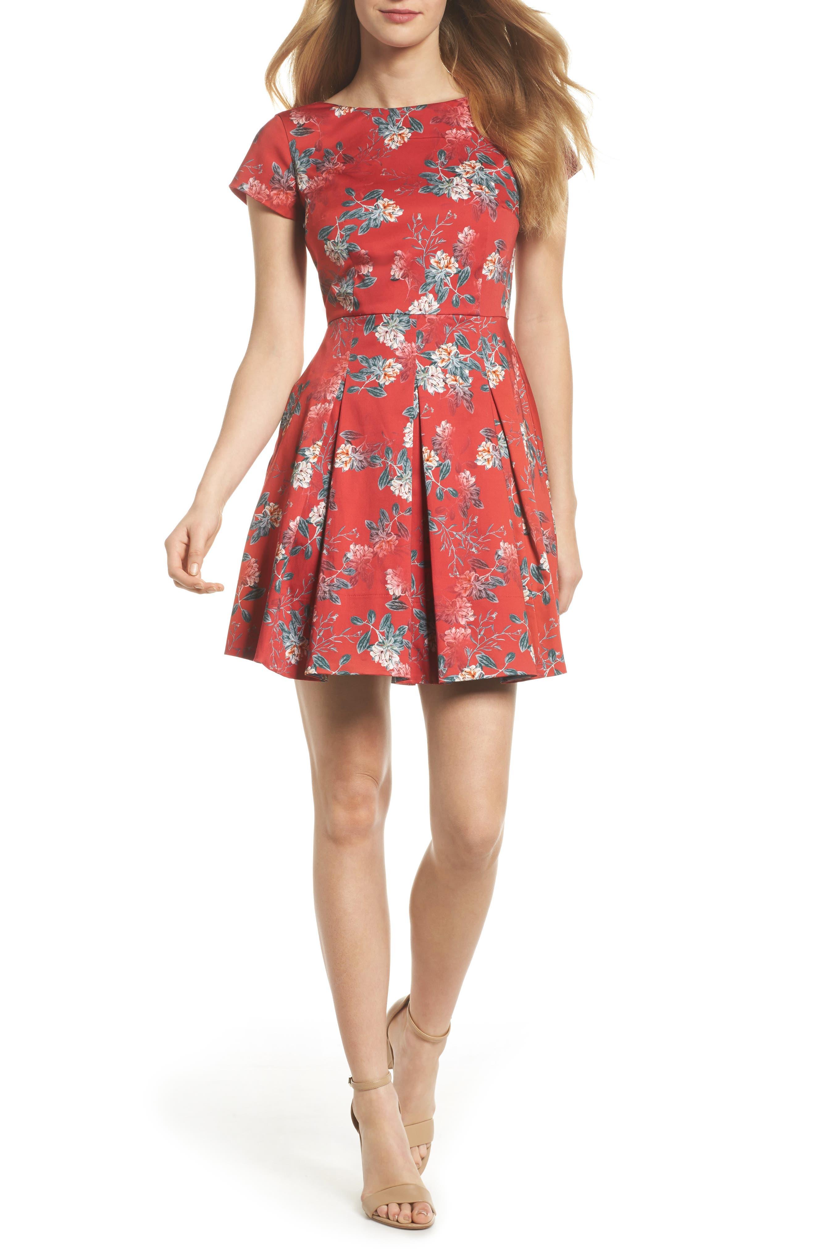 Kioa Fit & Flare Dress,                             Main thumbnail 2, color,
