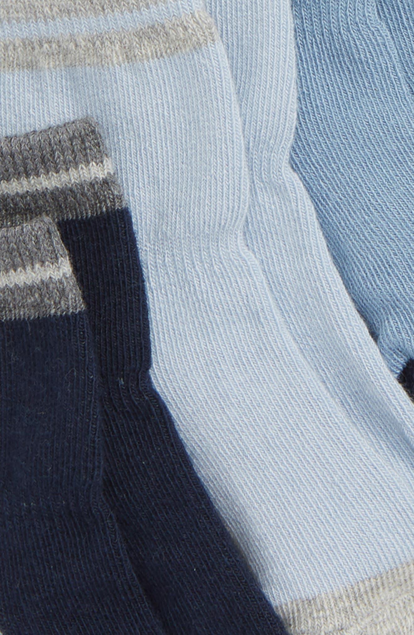 Benjamin Blue 6-Pack Socks,                             Alternate thumbnail 2, color,                             BLUE