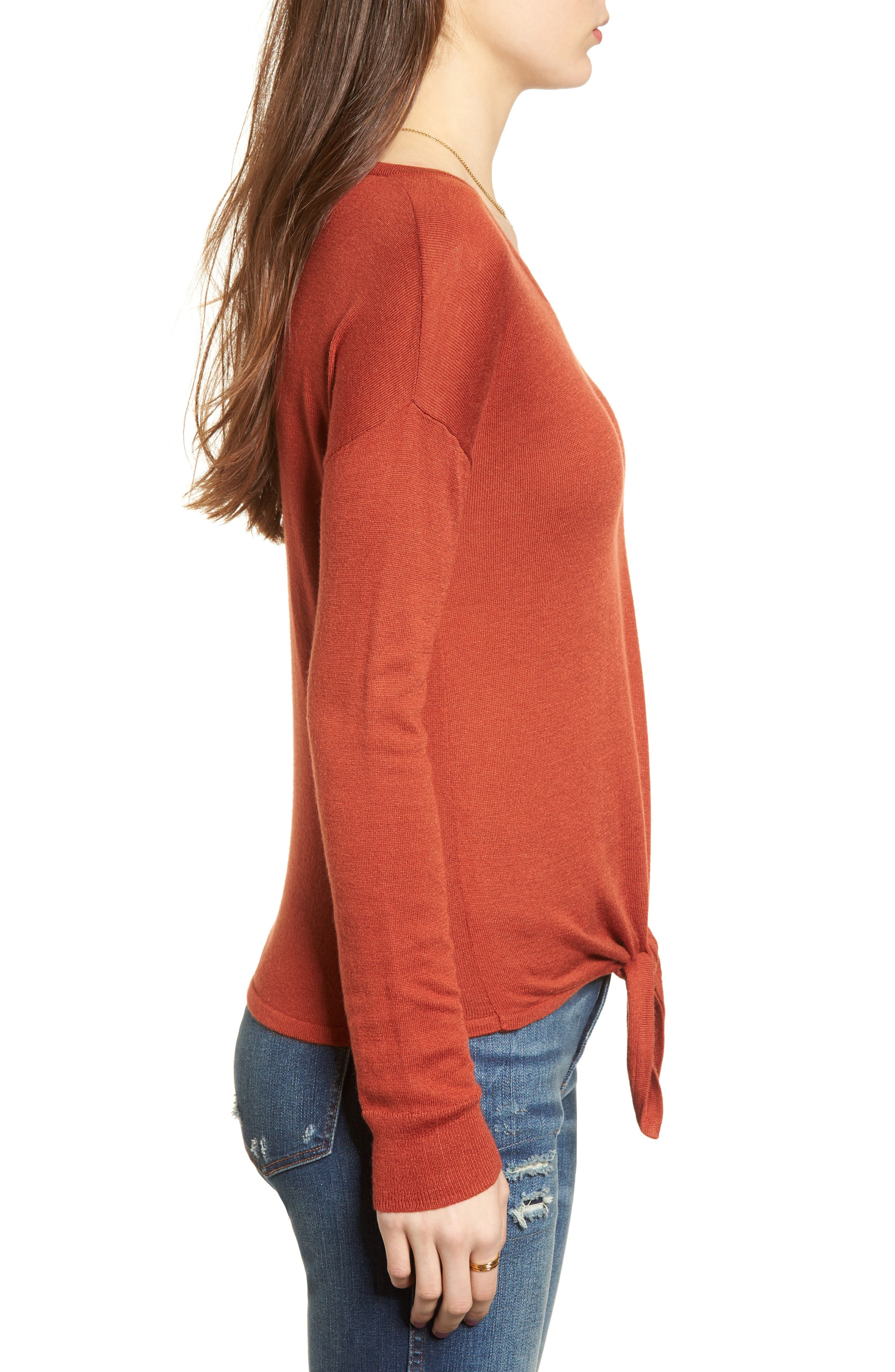 Modern Tie Front Sweater,                             Alternate thumbnail 12, color,