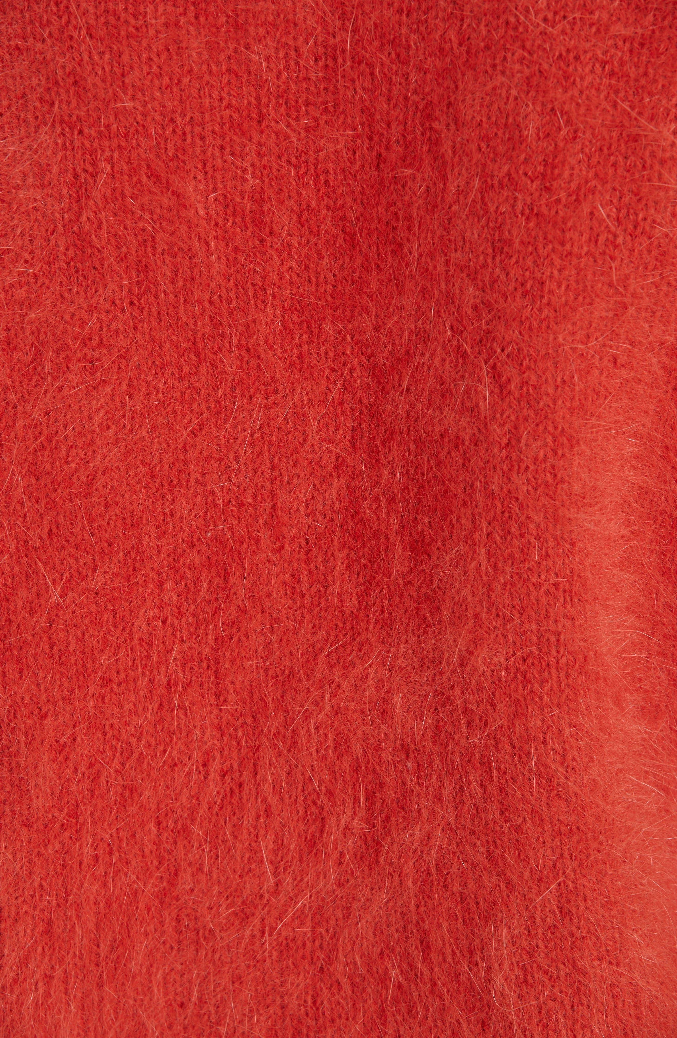 ULLA JOHNSON,                             Aries Puff Sleeve Sweater,                             Alternate thumbnail 5, color,                             600