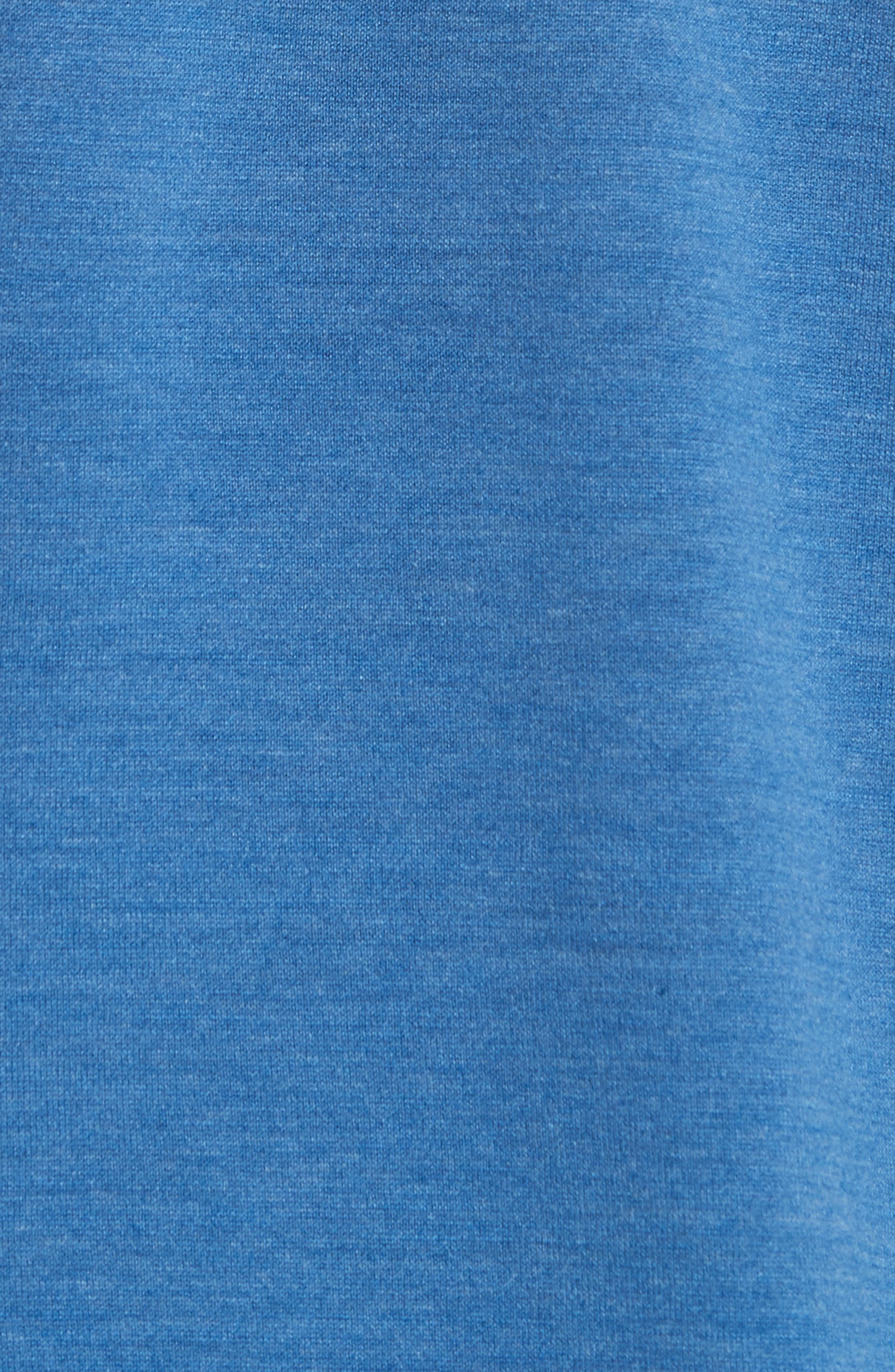 Hampton Silk Blend Jersey Polo,                             Alternate thumbnail 5, color,                             DUTCH BLUE