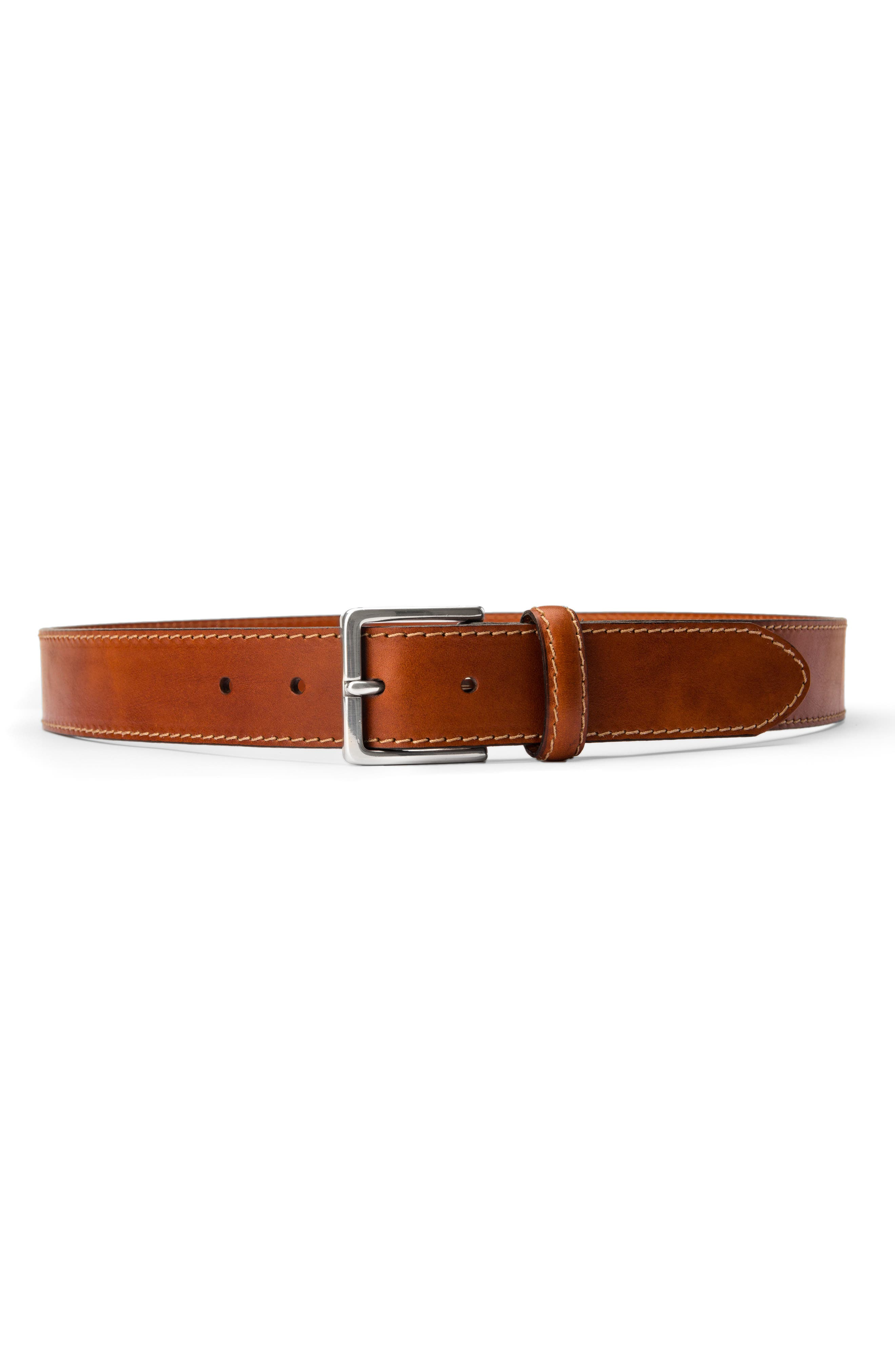 The Franco Leather Belt,                             Alternate thumbnail 5, color,                             AMBER