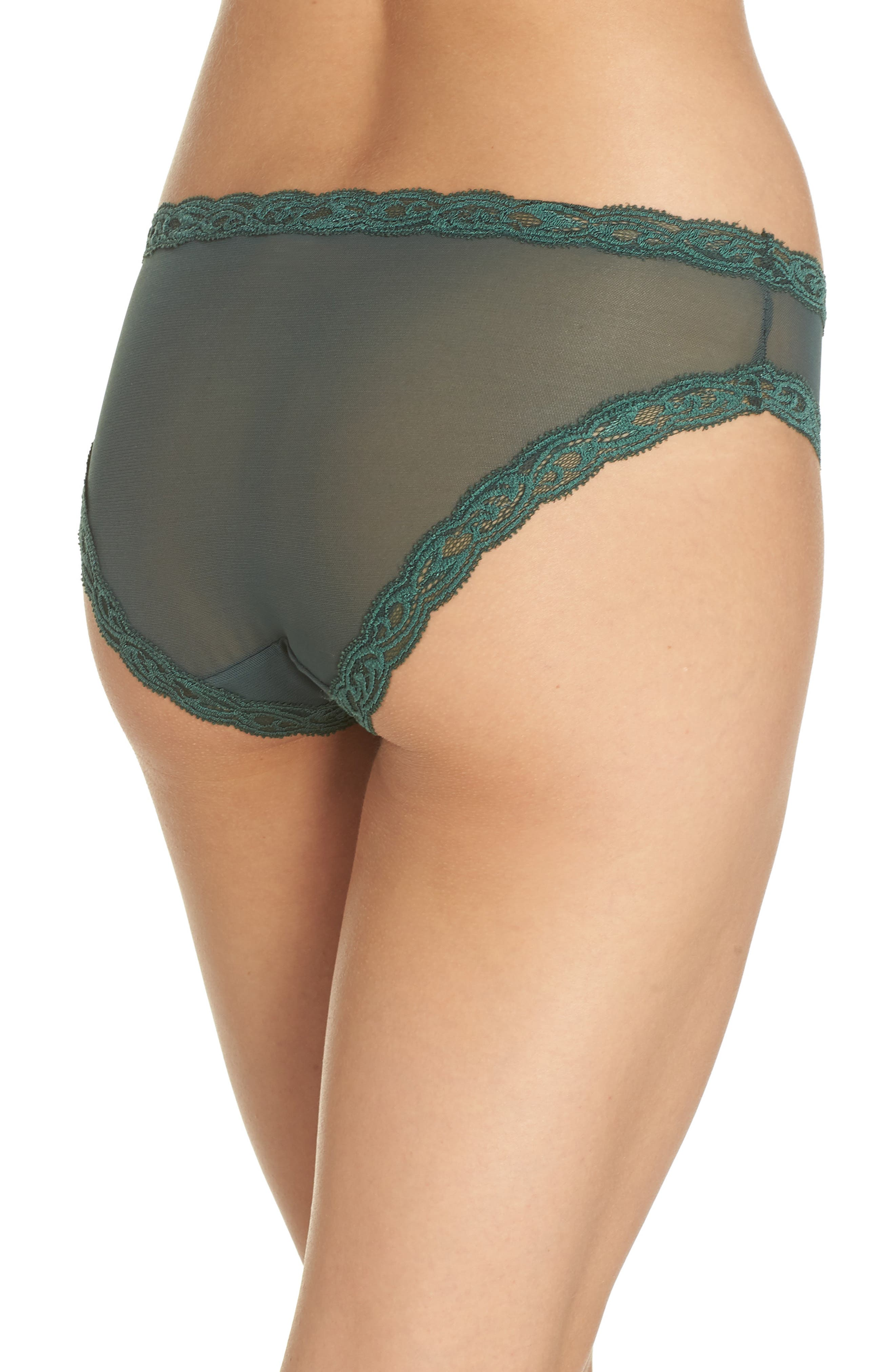 Feathers Hipster Briefs,                             Alternate thumbnail 3, color,                             HUNTER GREEN