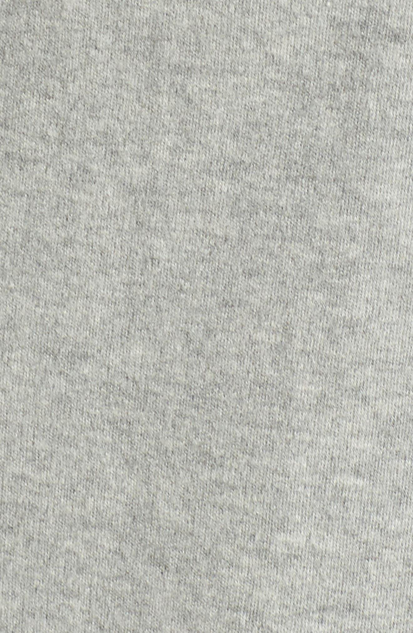 Shawl Collar Robe,                             Alternate thumbnail 6, color,                             HEATHER GREY