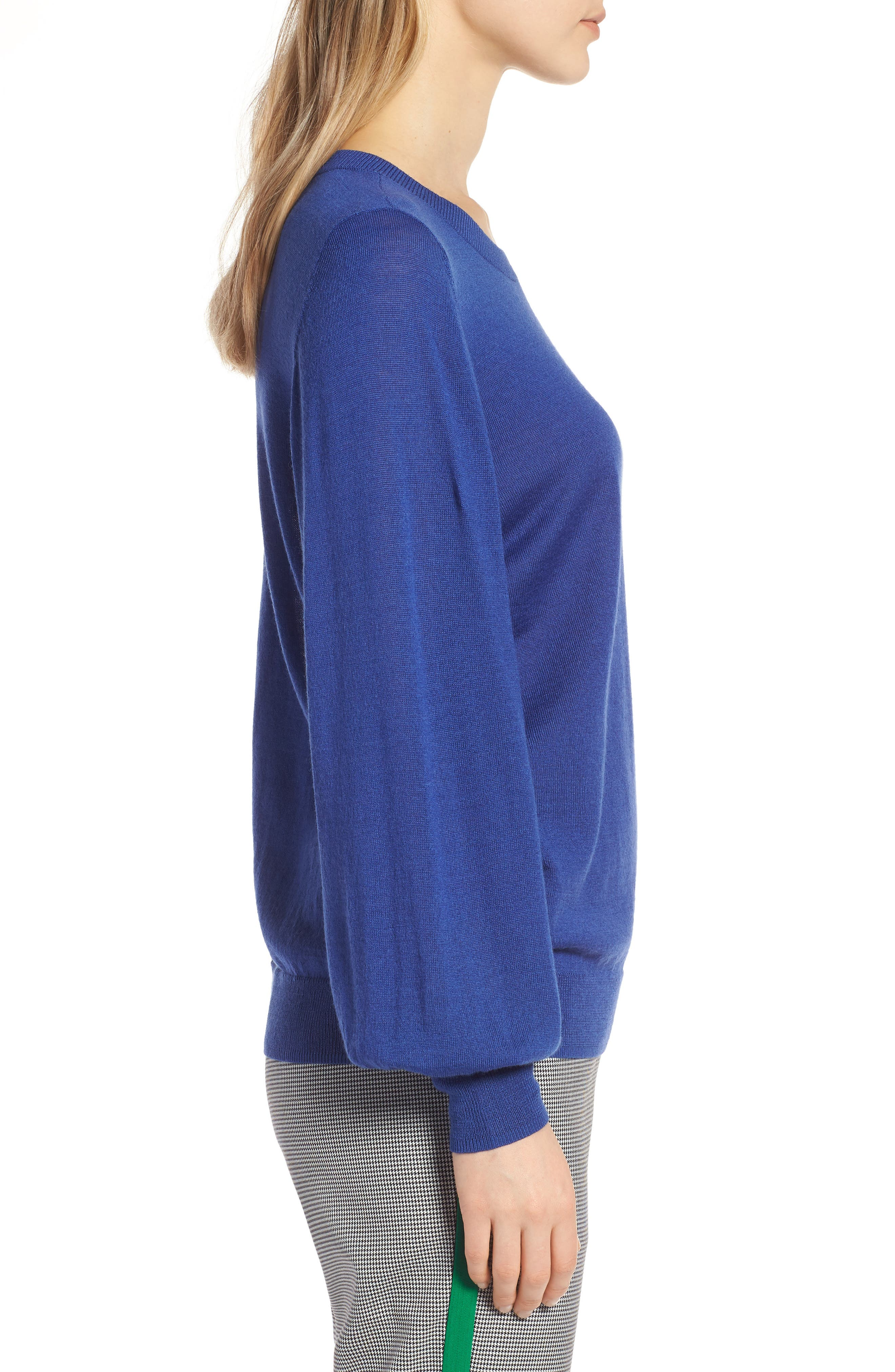 Puff Sleeve Sweater,                             Alternate thumbnail 25, color,