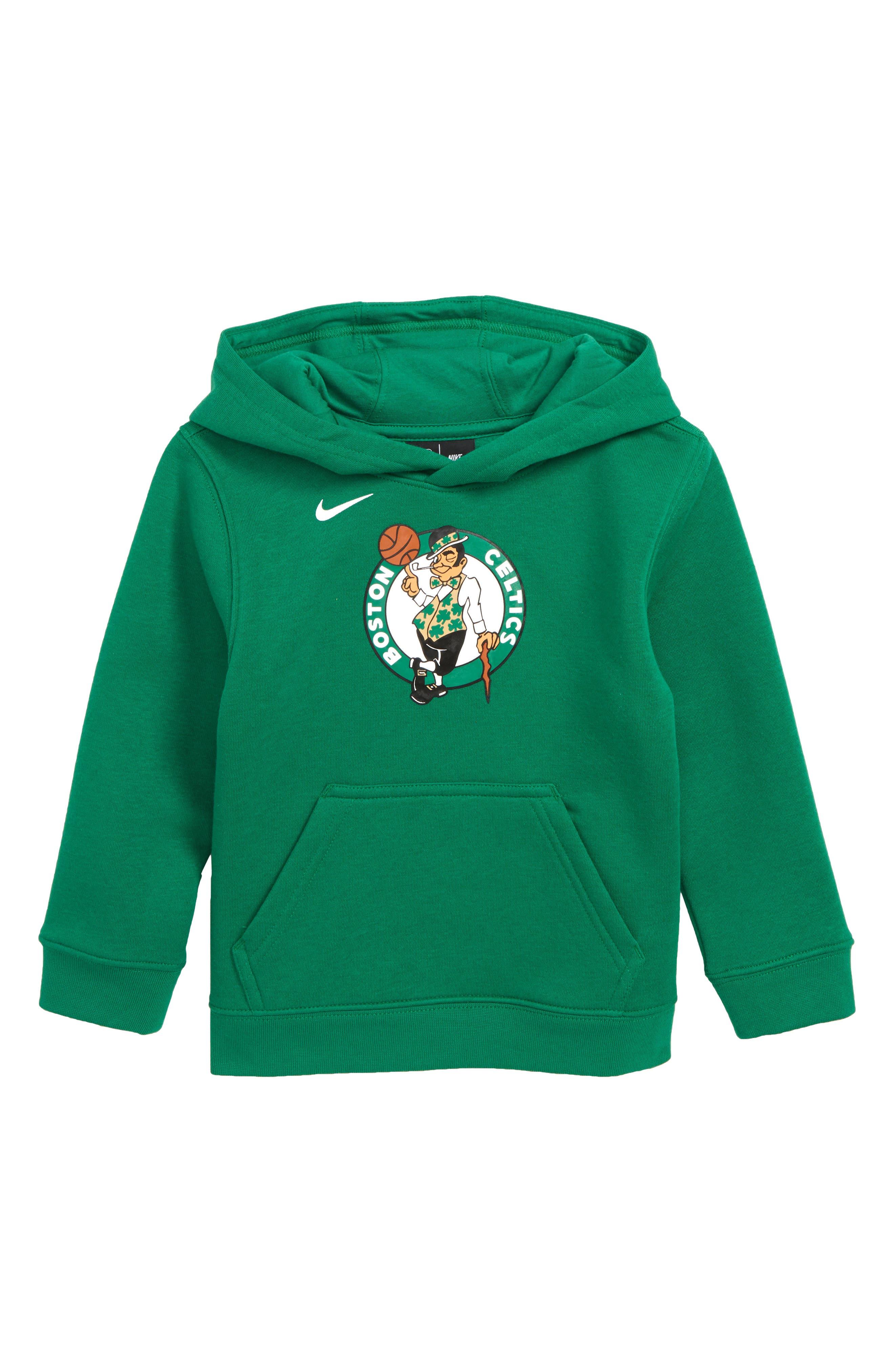 Boston Celtics Hoodie,                             Main thumbnail 1, color,                             CLOVER