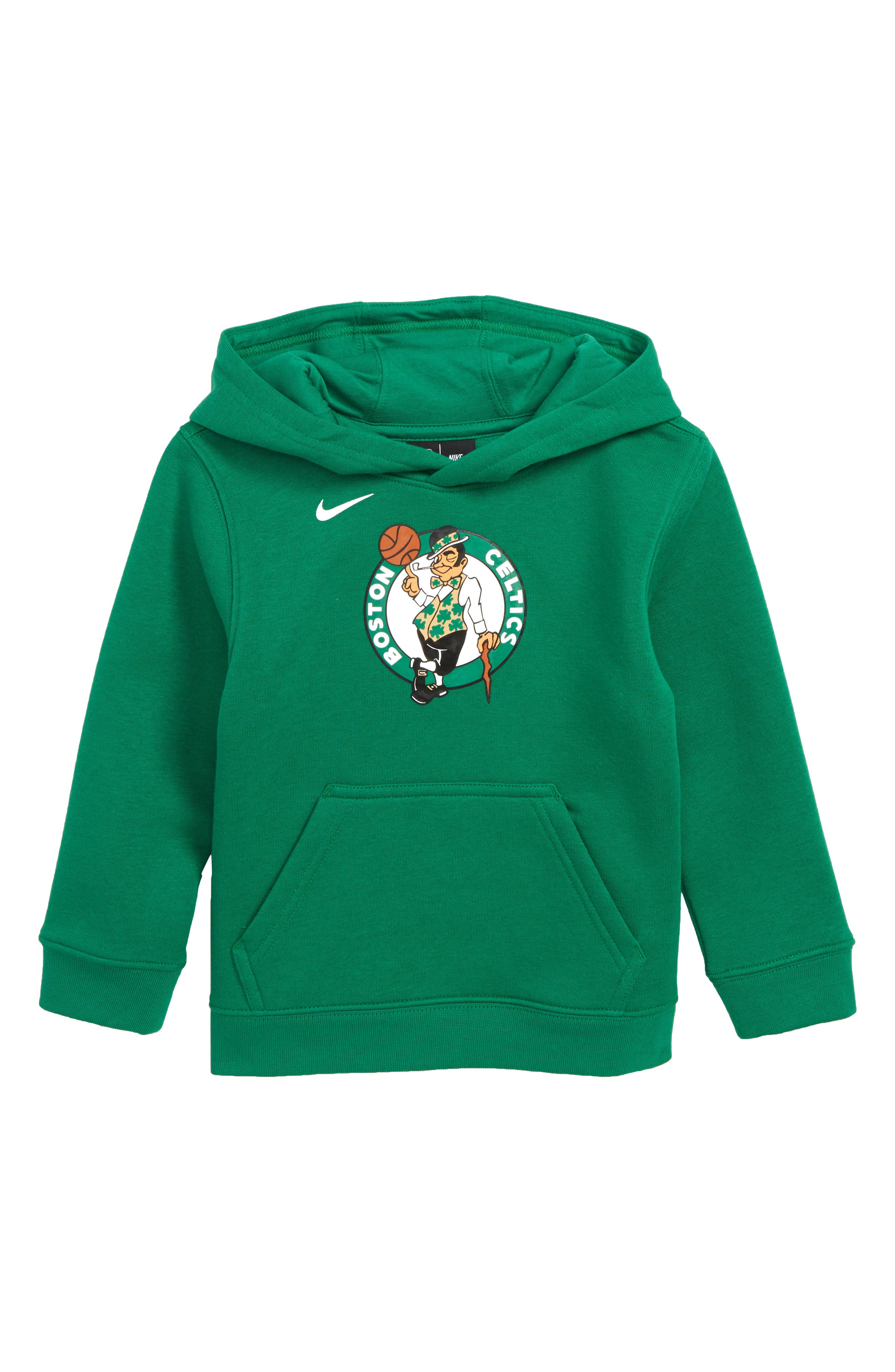 Boston Celtics Hoodie, Main, color, CLOVER