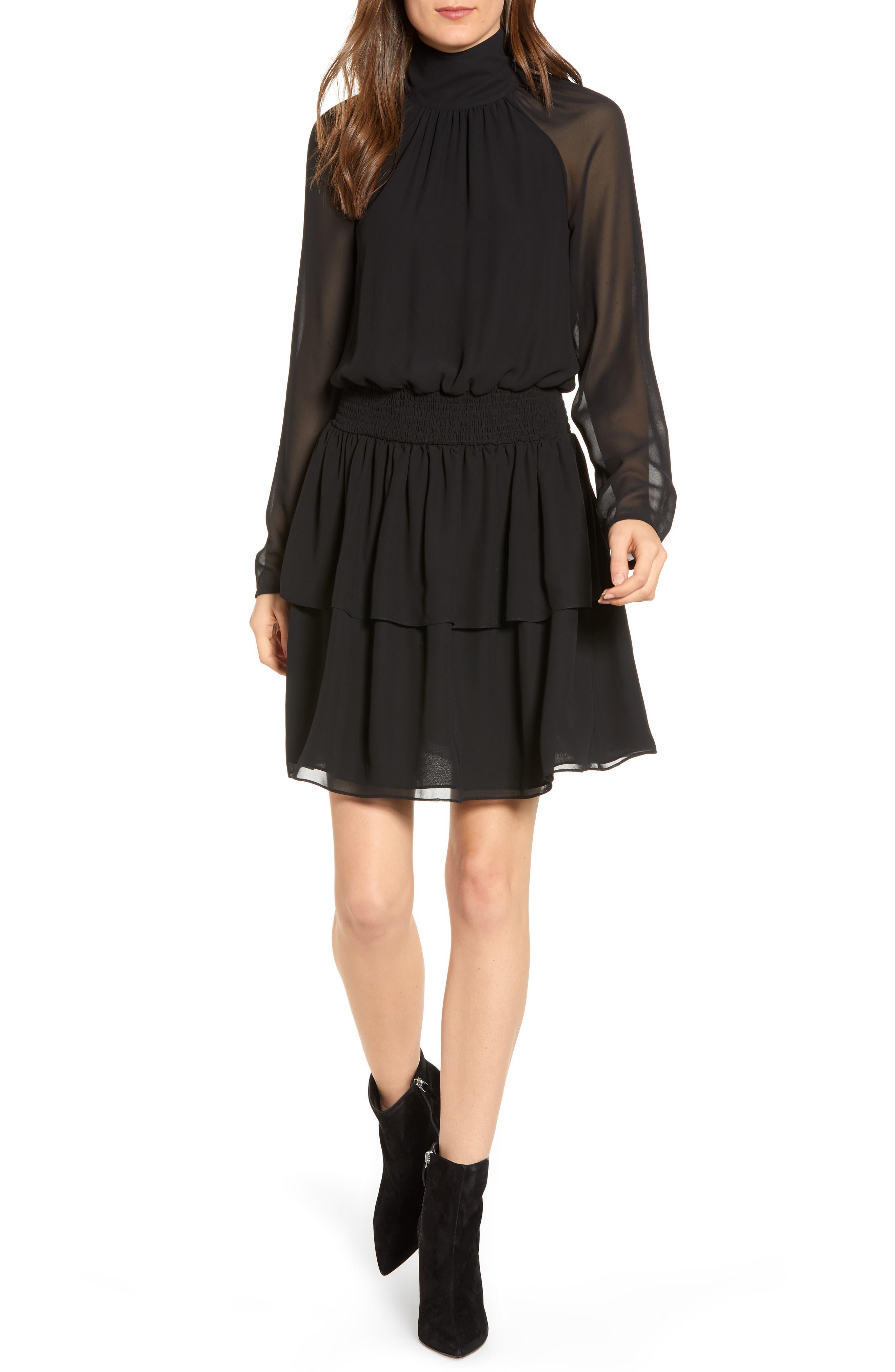 Rebecca Minkoff Zaykee Blouson Dress, Black