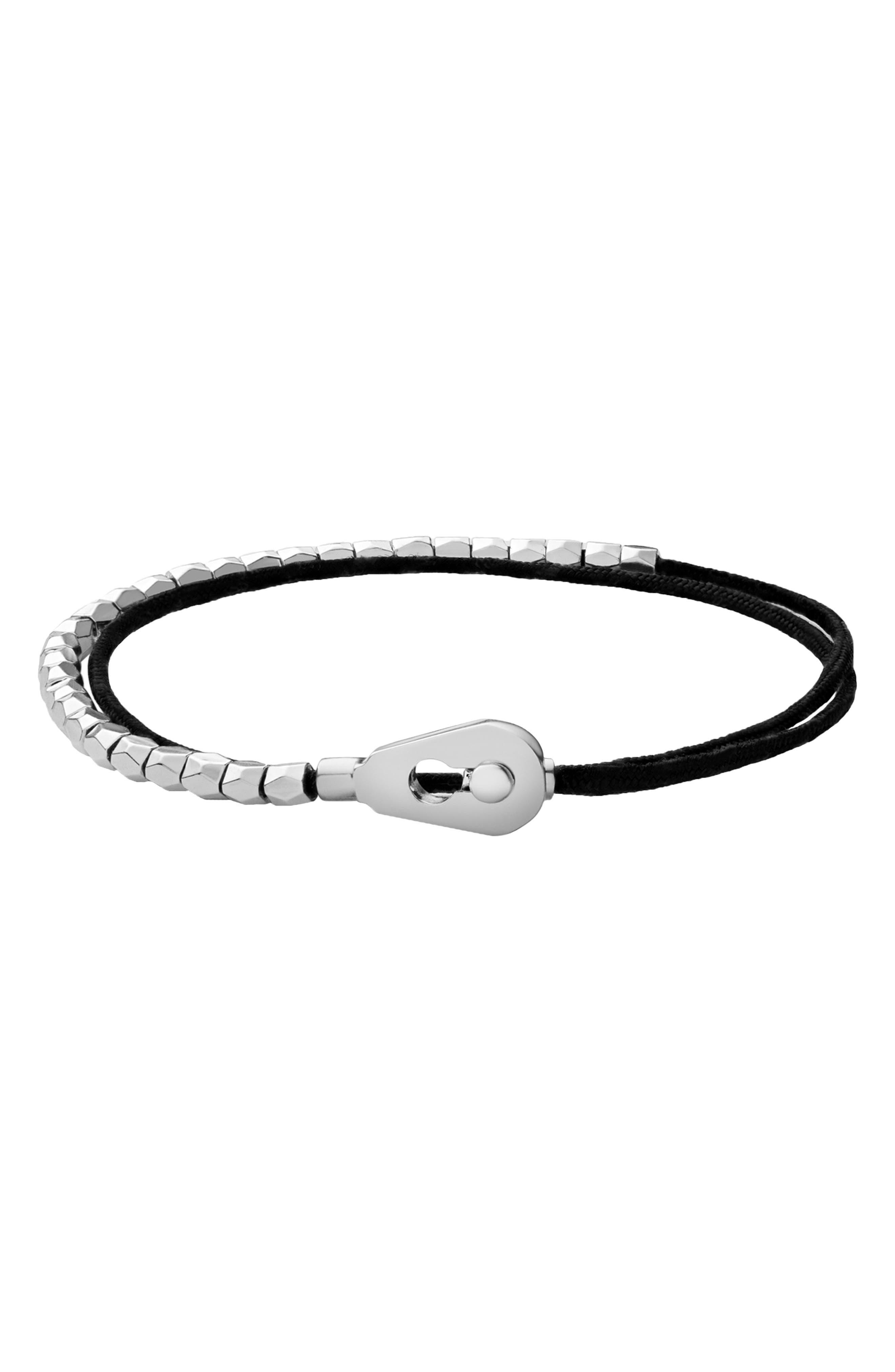 Centra Rope Bracelet,                         Main,                         color, BLACK