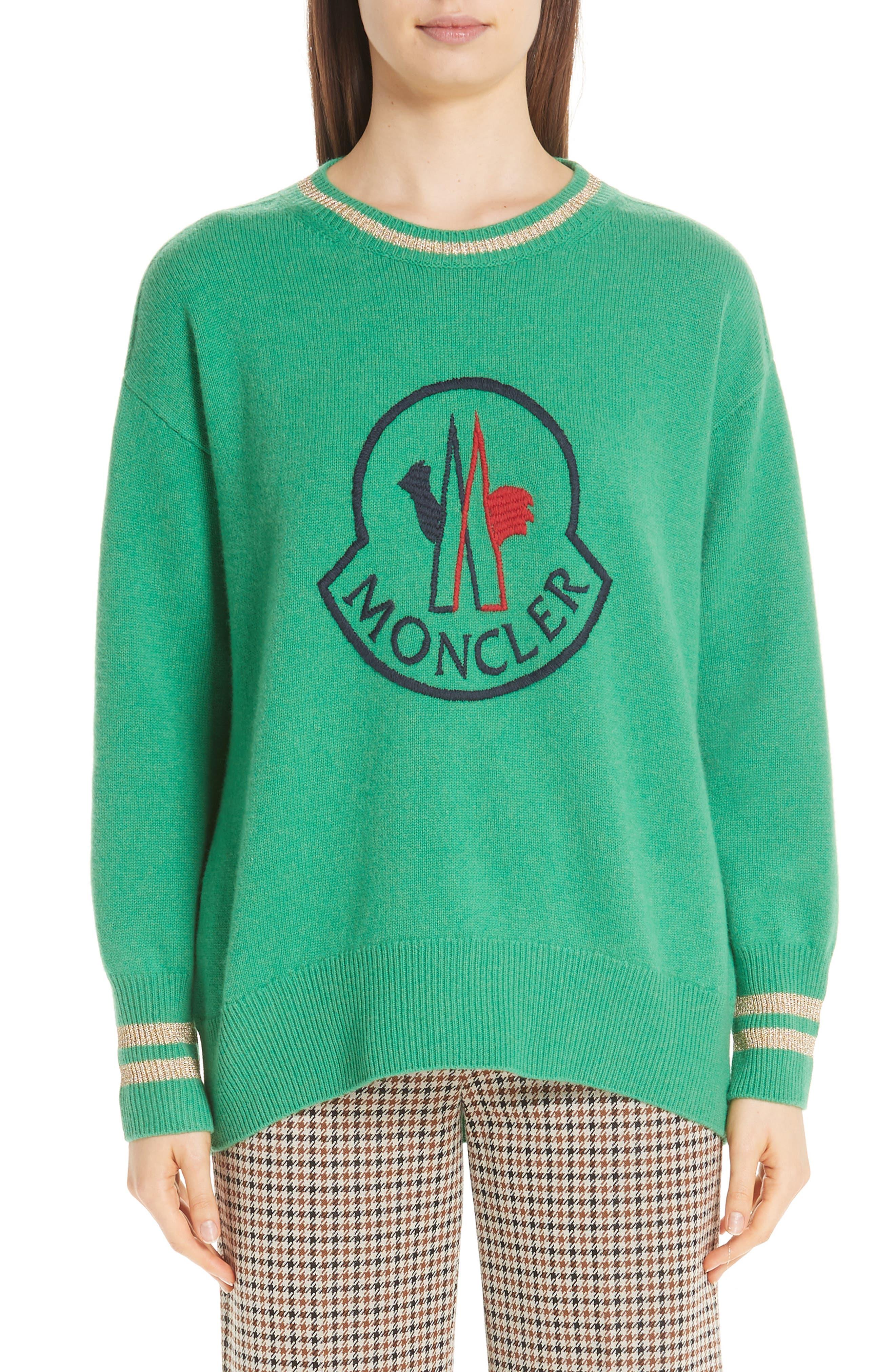 Moncler Logo Sweater, Green